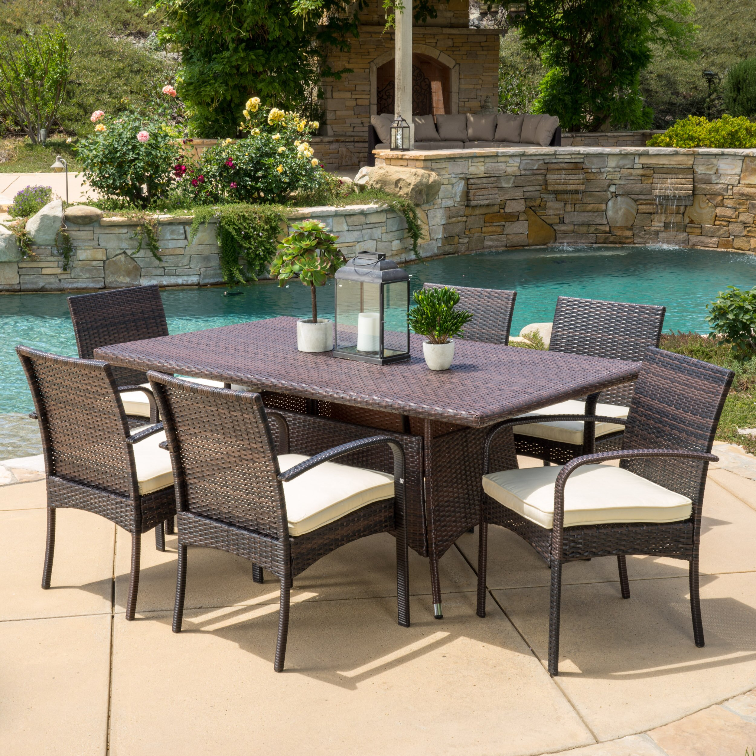 Beachcrest Home Lakewood Park 7 Piece Dining Set With