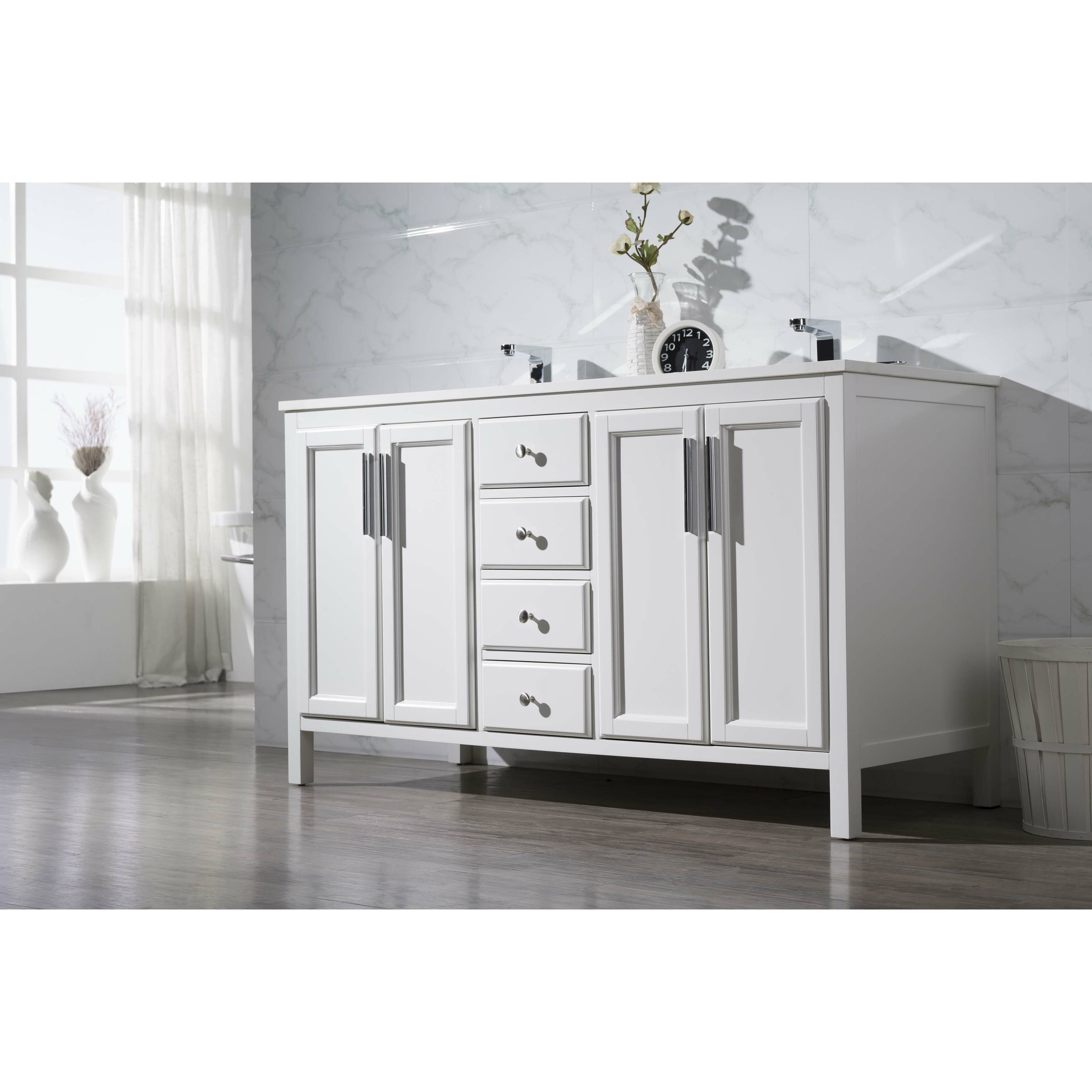 Home loft concepts emily 59 double sink bathroom vanity - 52 inch bathroom vanity double sink ...