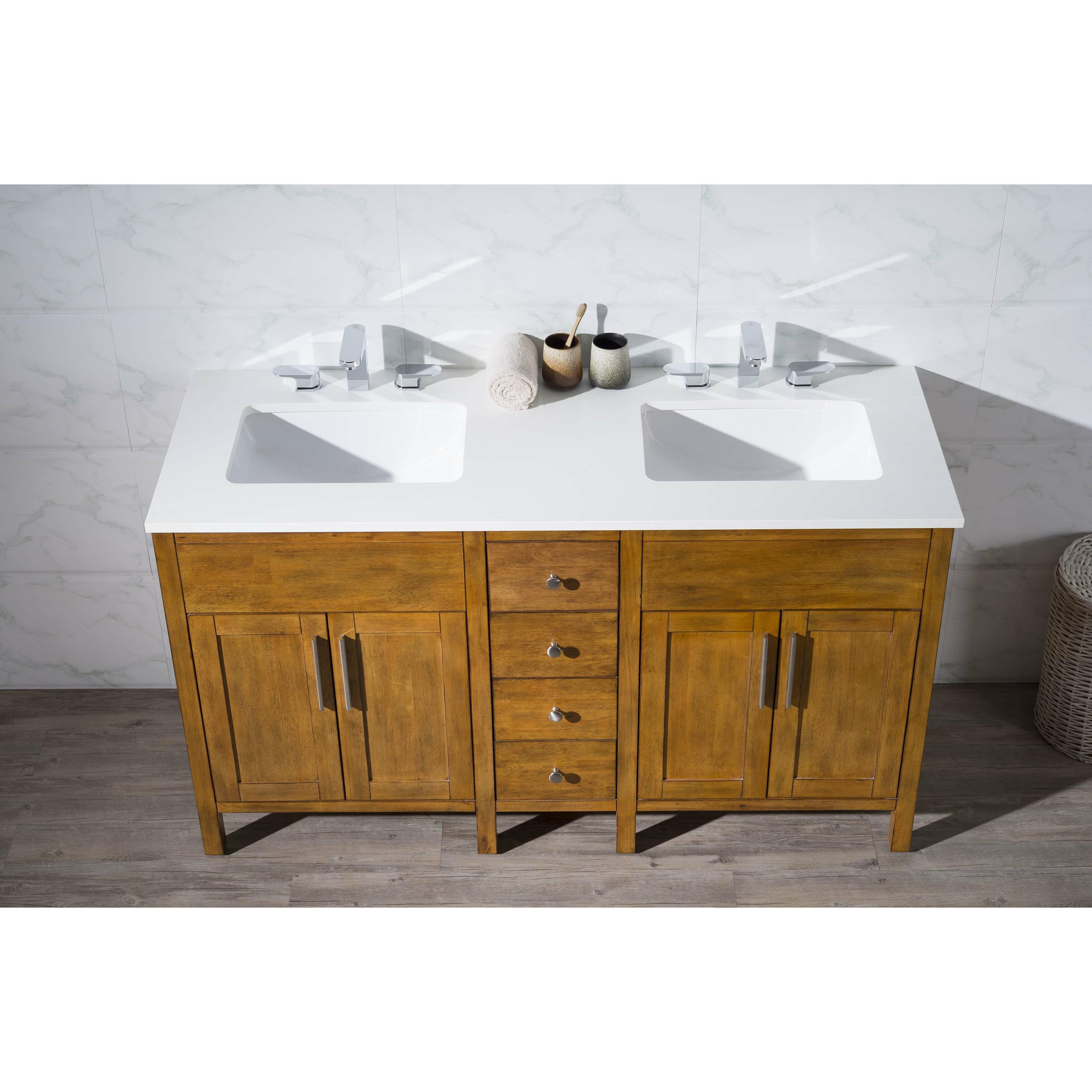 Home Loft Concepts Evangeline 59 Double Sink Bathroom Vanity Set Reviews Wayfair