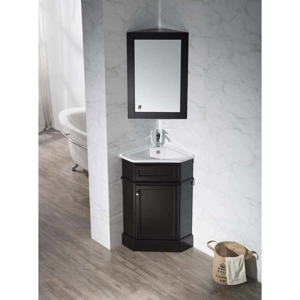 "Home Loft Concepts 26.5"" Single Corner Bathroom Vanity Set"