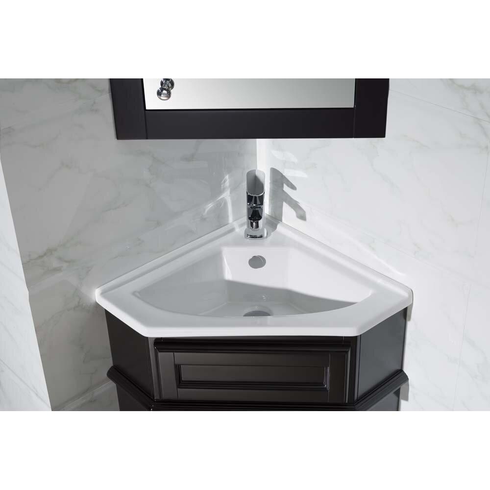 Home loft concepts 26 5 quot single corner bathroom vanity set