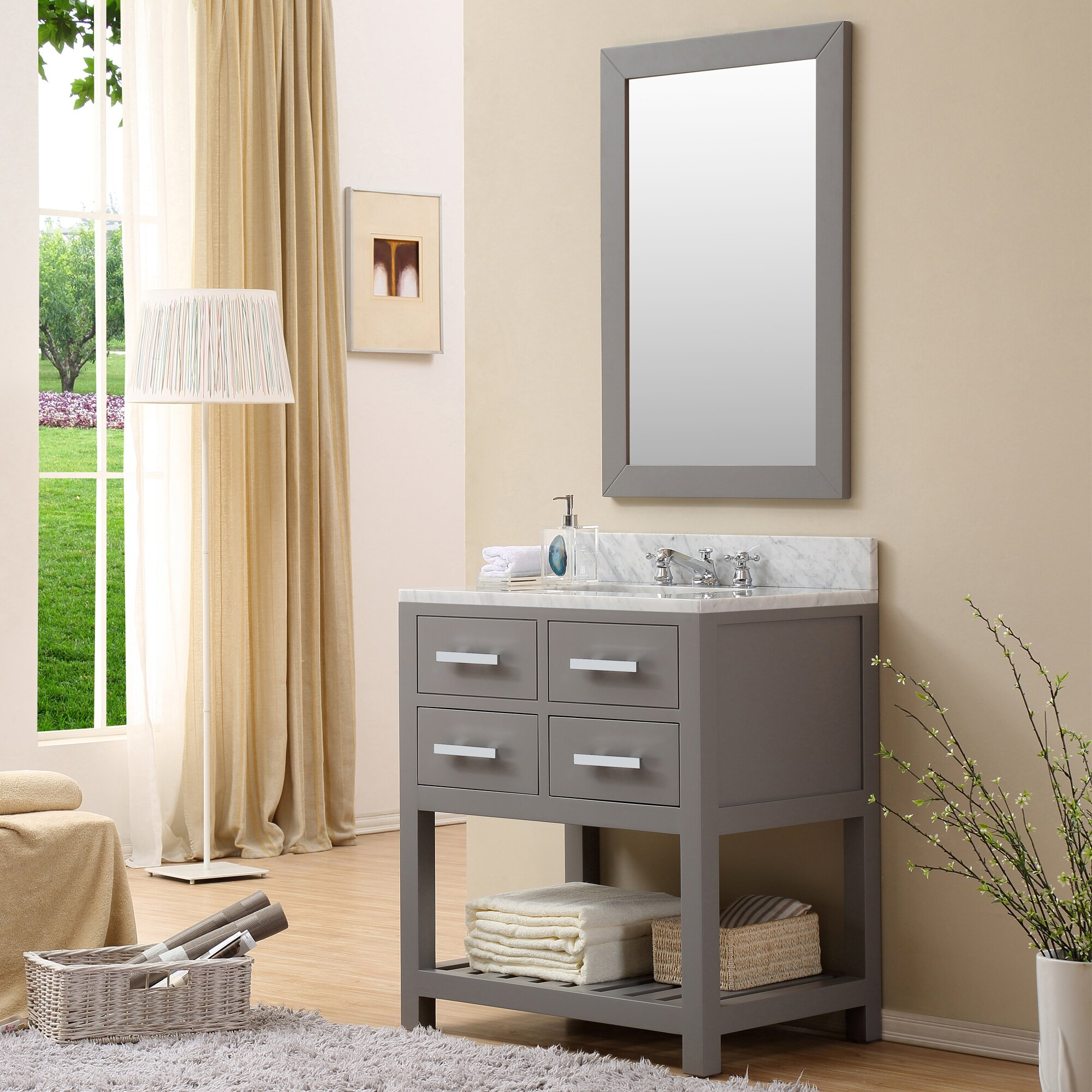 "Home Loft Concepts 30"" Single Sink Bathroom Vanity Set ..."