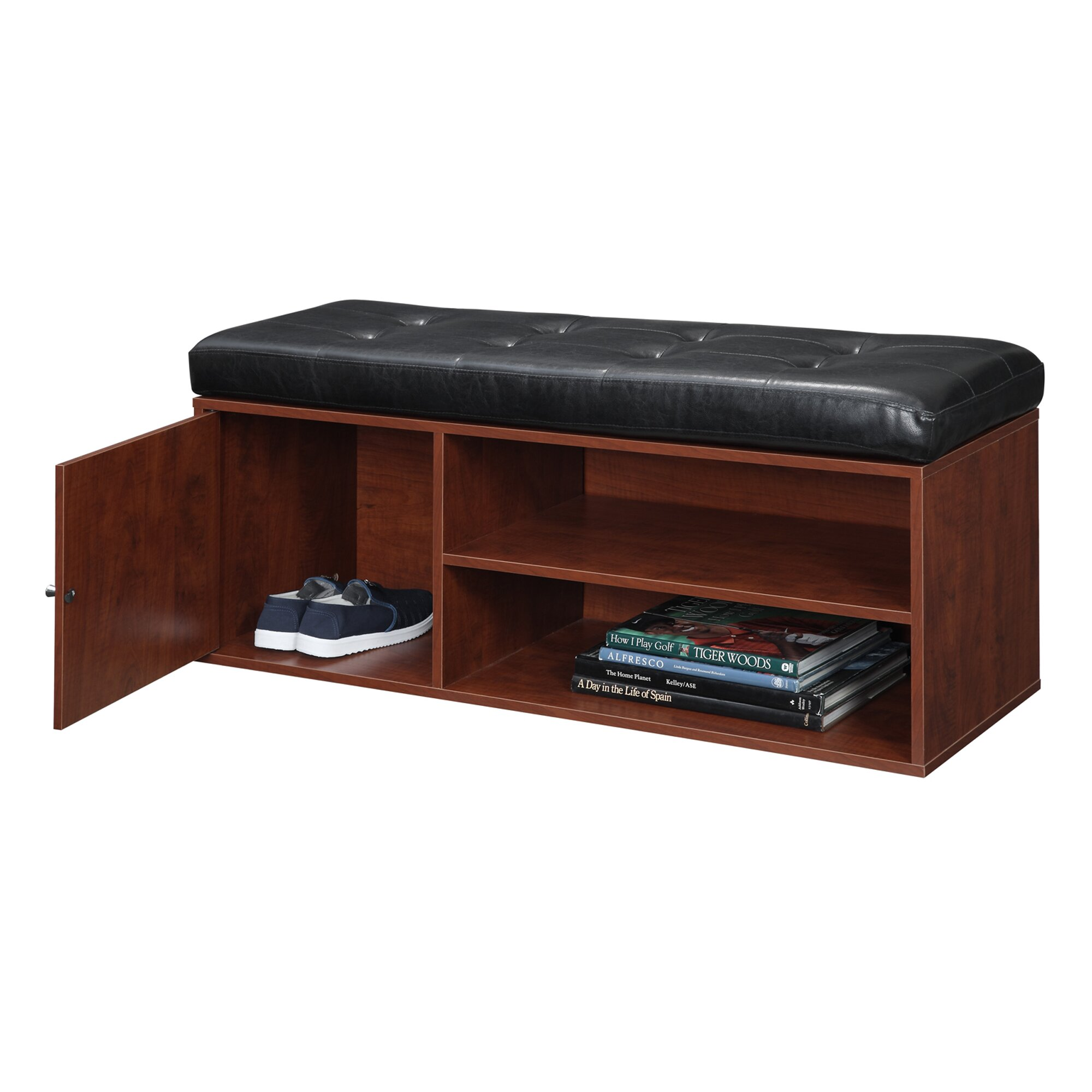 Andover Mills Ravenwood Upholstered Storage Bench: Andover Mills Houston Entryway Storage Bench & Reviews