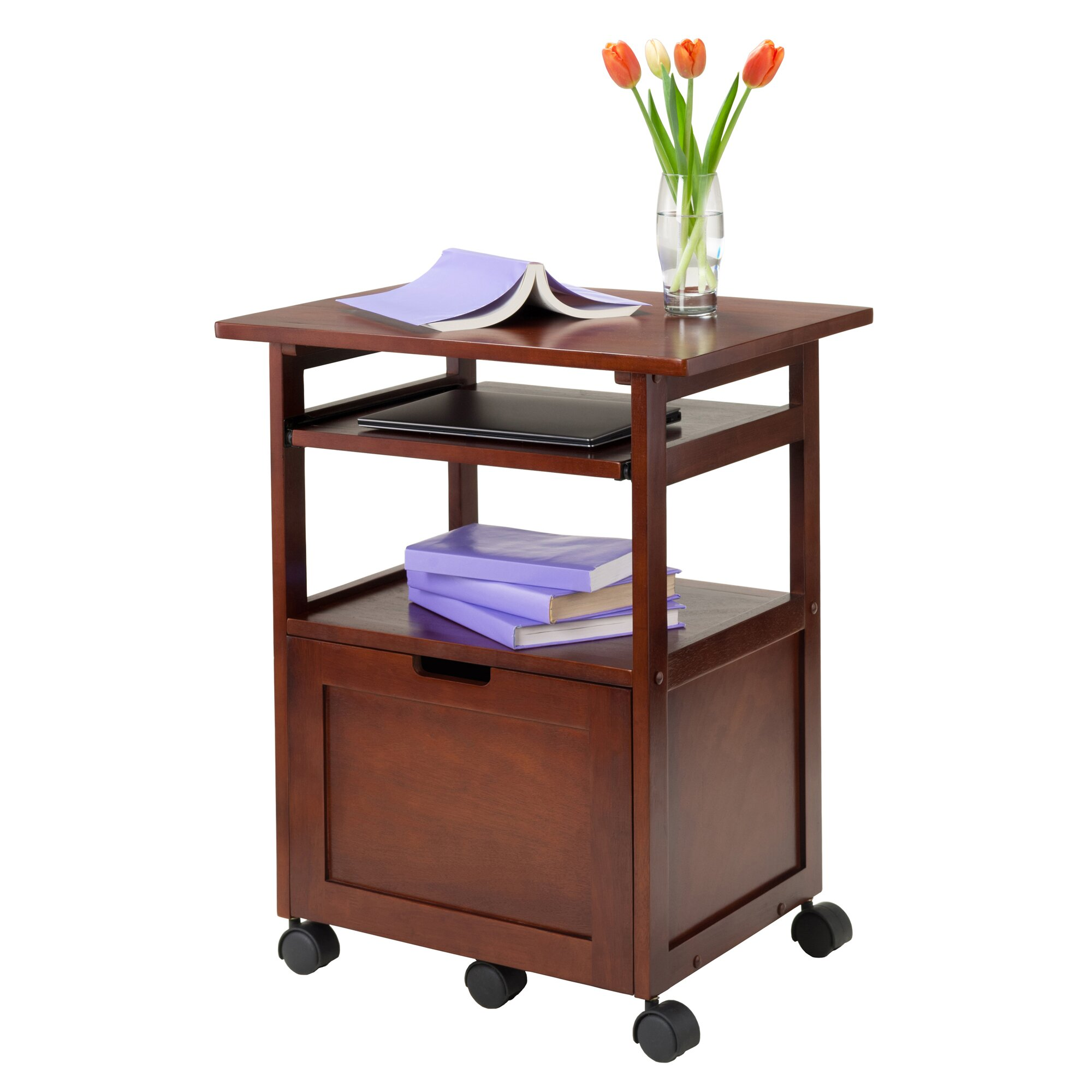 Andover Mills Piper Work Cart Printer Stand with  : Octavia 30 Swivel Bar Stool with Cushion ANDO3078 from www.wayfair.com size 2000 x 2000 jpeg 308kB