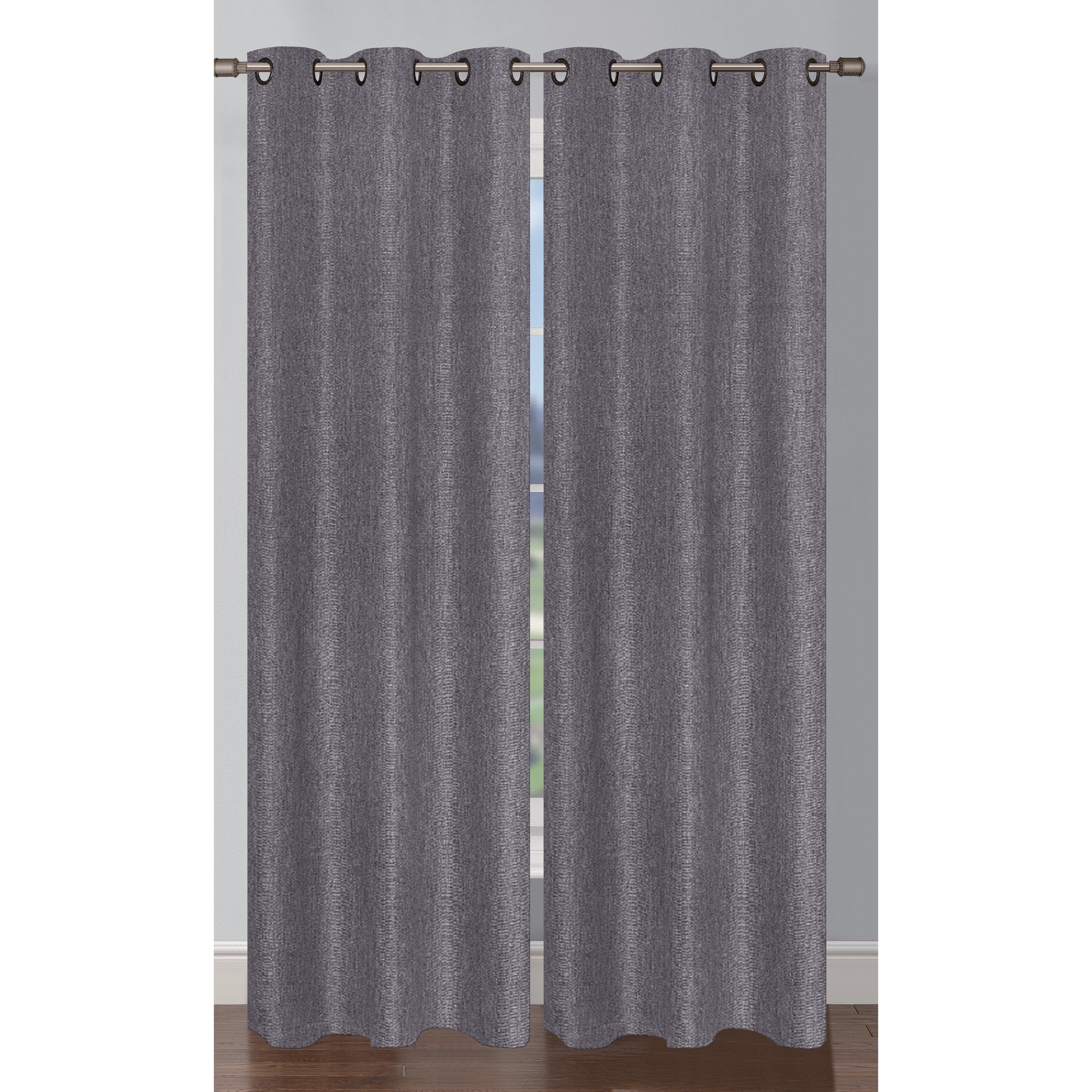 Window Elements Oscar Luxury Faux Linen Shimmer Grommet Curtain Panel