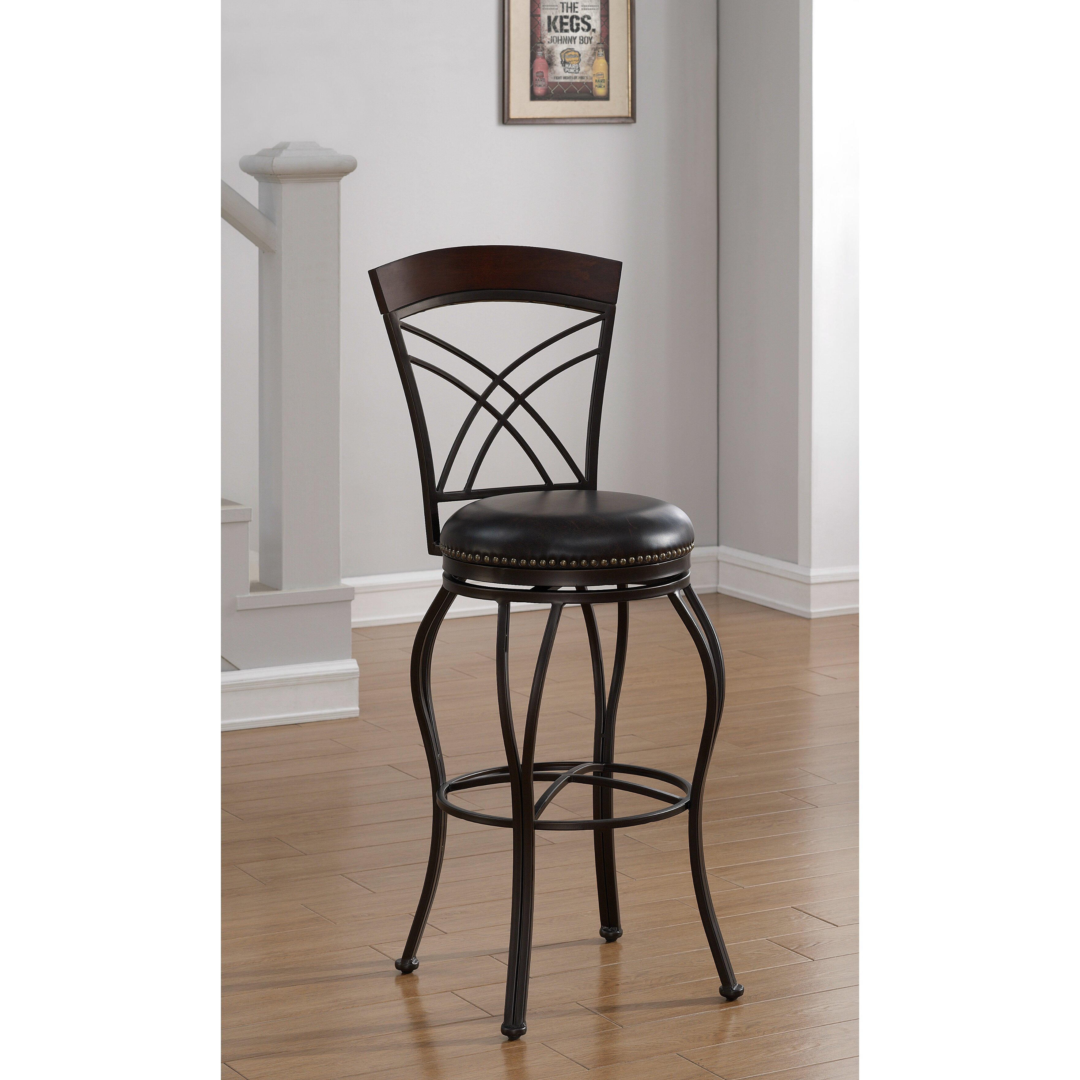 American Heritage Caprice 34 Quot Swivel Bar Stool With