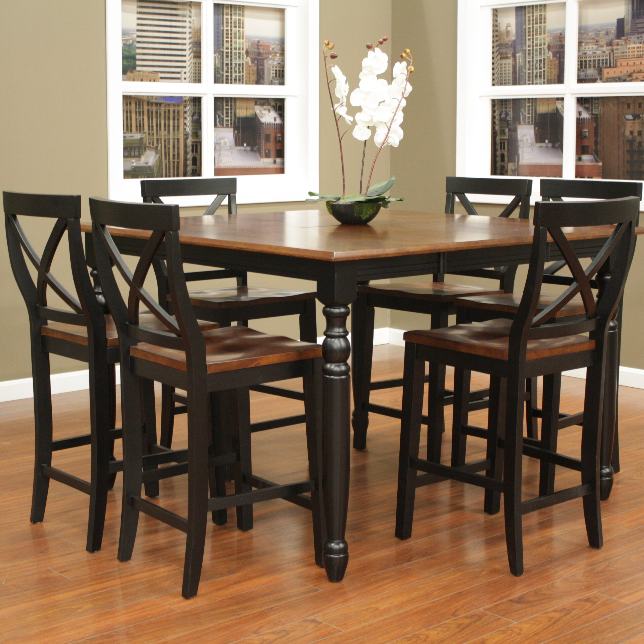 7 Piece Counter Height Dining Room Sets: American Heritage Berkshire 7 Piece Counter Height Pub Set