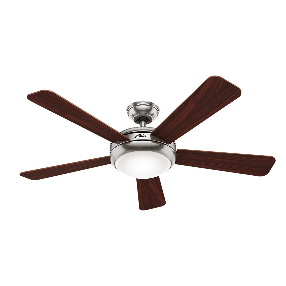 "Hunter 52 Contemporary Ceiling Fan 3 Coffee Blades: Hunter Fans 52"" Palermo 5 Blade Ceiling Fan & Reviews"