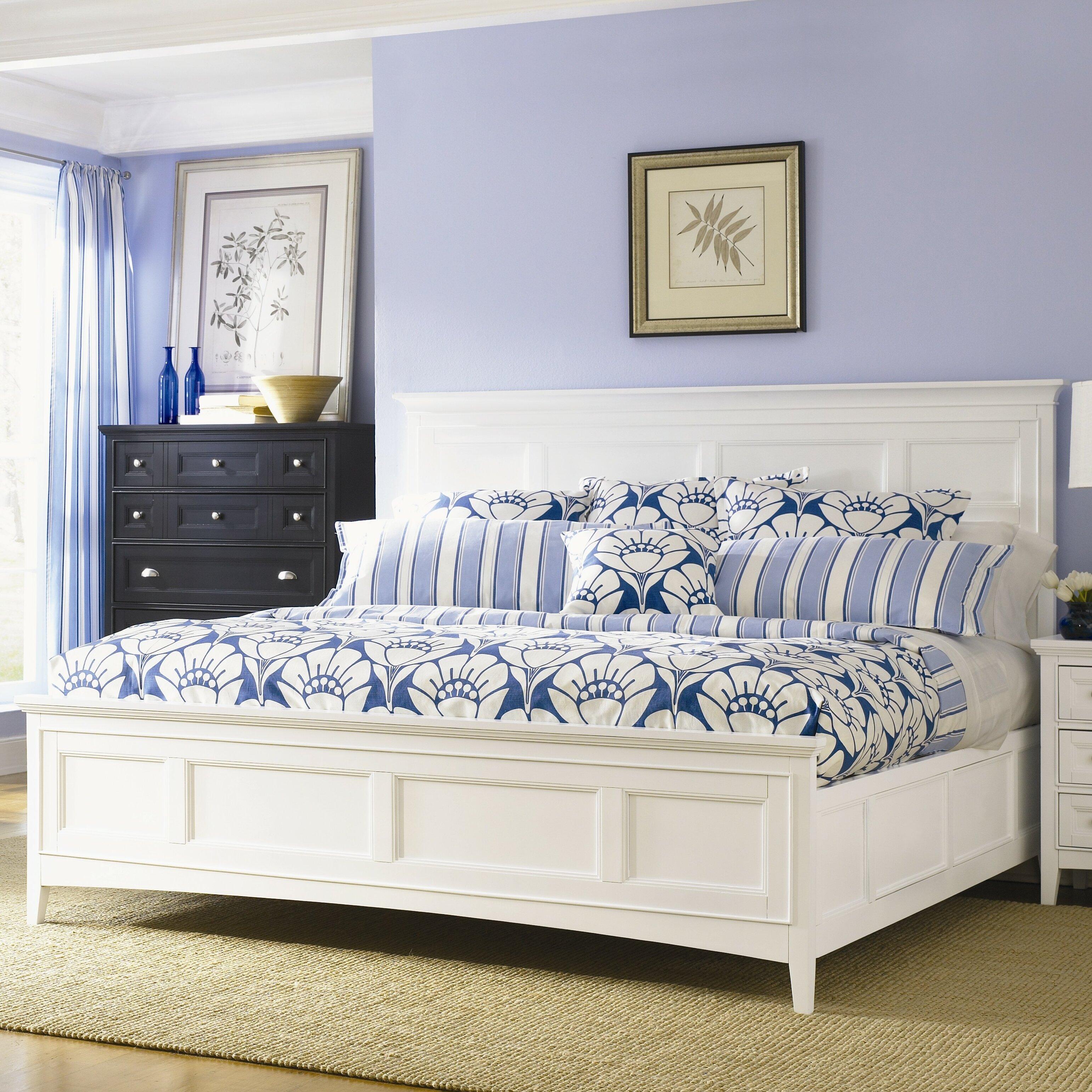 Kentwood California King Panel Bed In White Wayfair