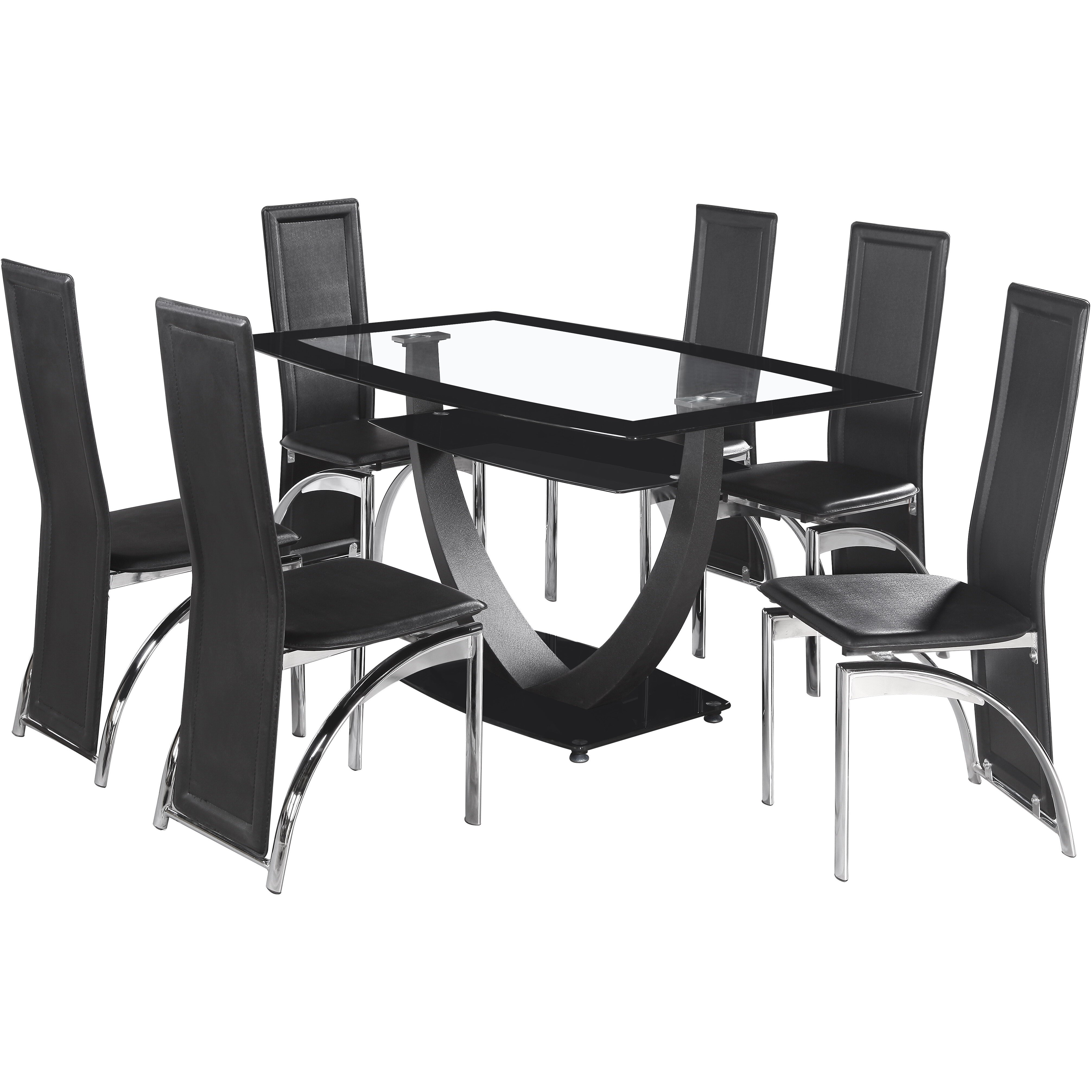 Home Haus Norfolk Dining Table And 6 Chairs Reviews Wayfair UK