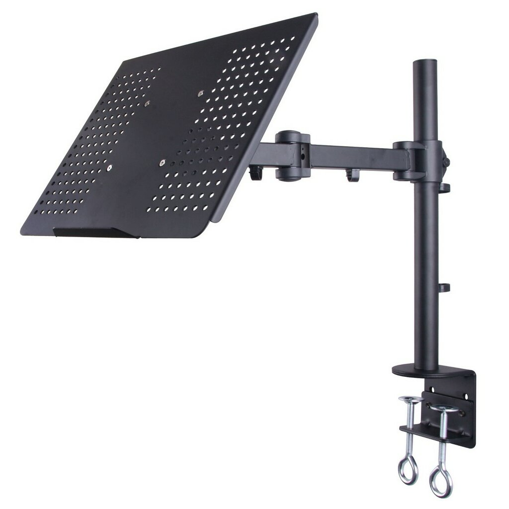 laptop notebook desk mount stand fully adjustable extension clamp