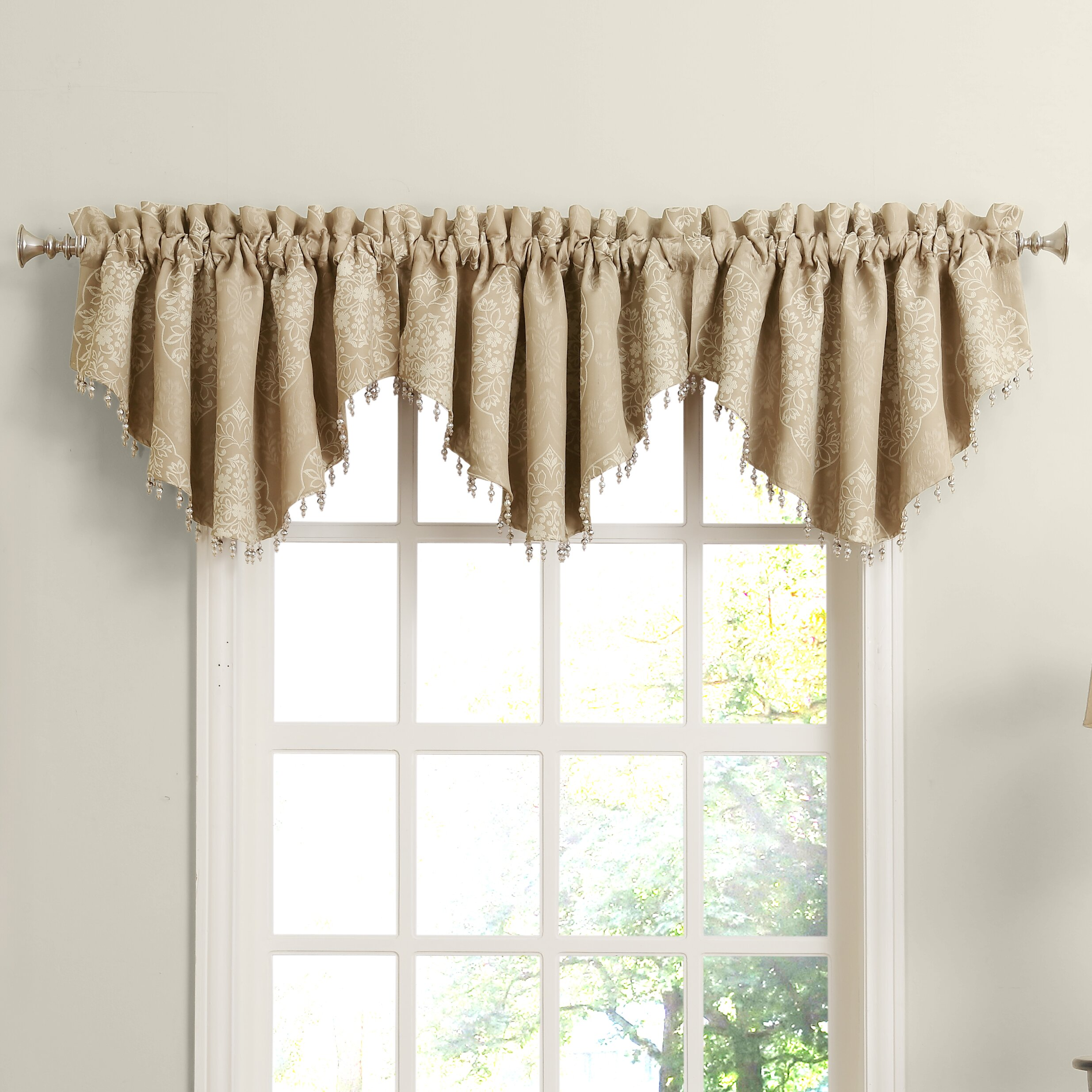 piece tier valance view scarves kitchen ivy all treatments your curtain ascot set and window top valances cottage for