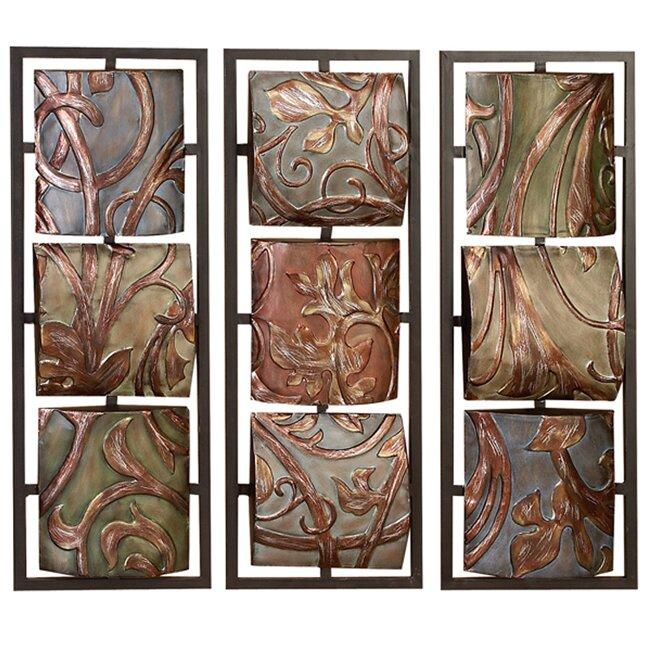 EC World Imports Casa Cortes Sienna Vines Metal Art Wall Decor