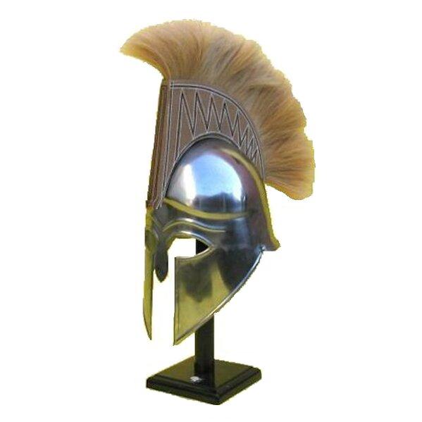 Ec World Imports Antique Replica Spartan Tan Plume Armor