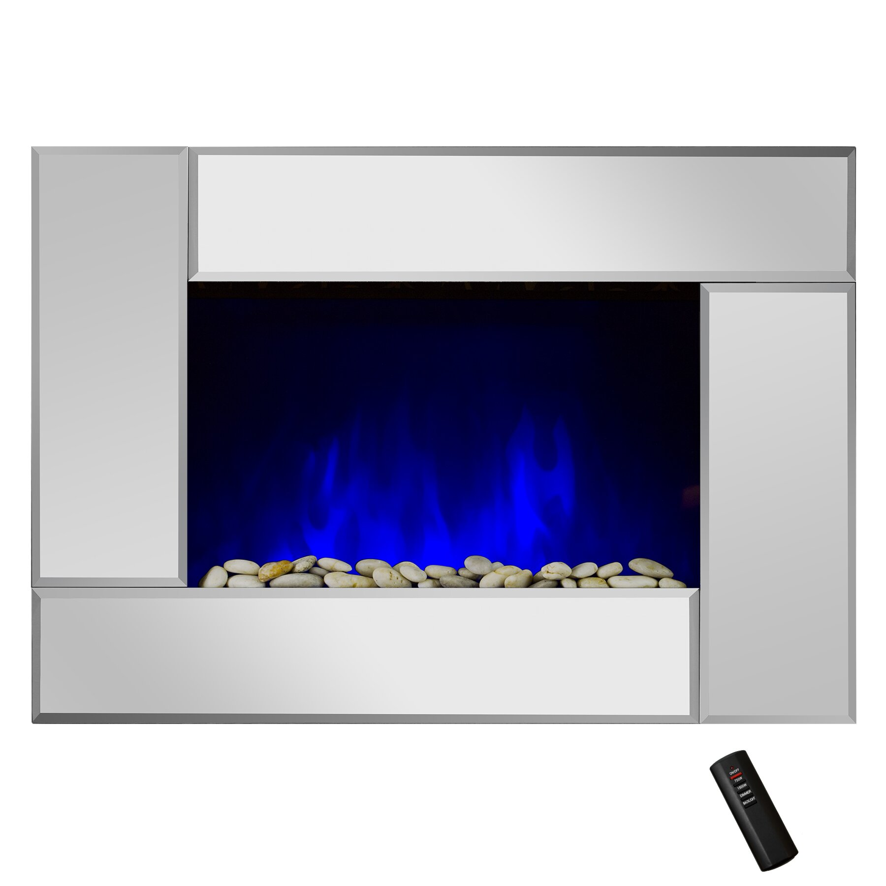 goldenvantage 5200 btu wall mount electric fireplace