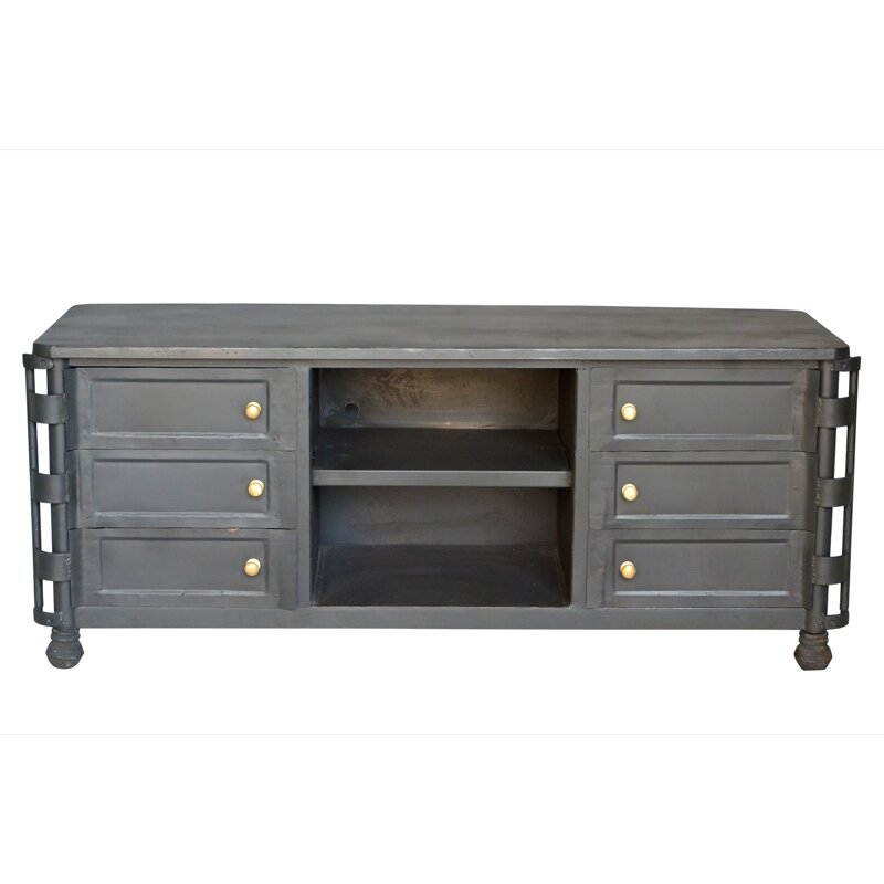 Cdi International Industrial Kitchen Cart With Mango Top: Industrial TV Stand