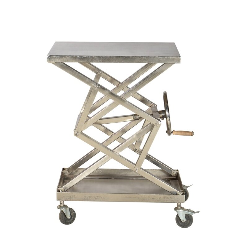 Cdi International Industrial Kitchen Cart With Mango Top: Modern Industrial Coffee Table
