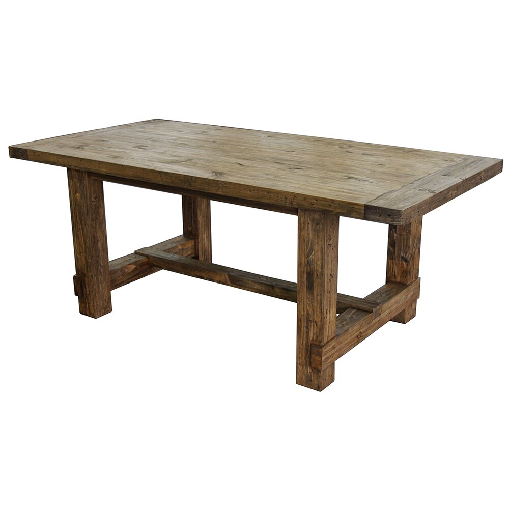 Country Dining Table With Bench: Country Dining Table