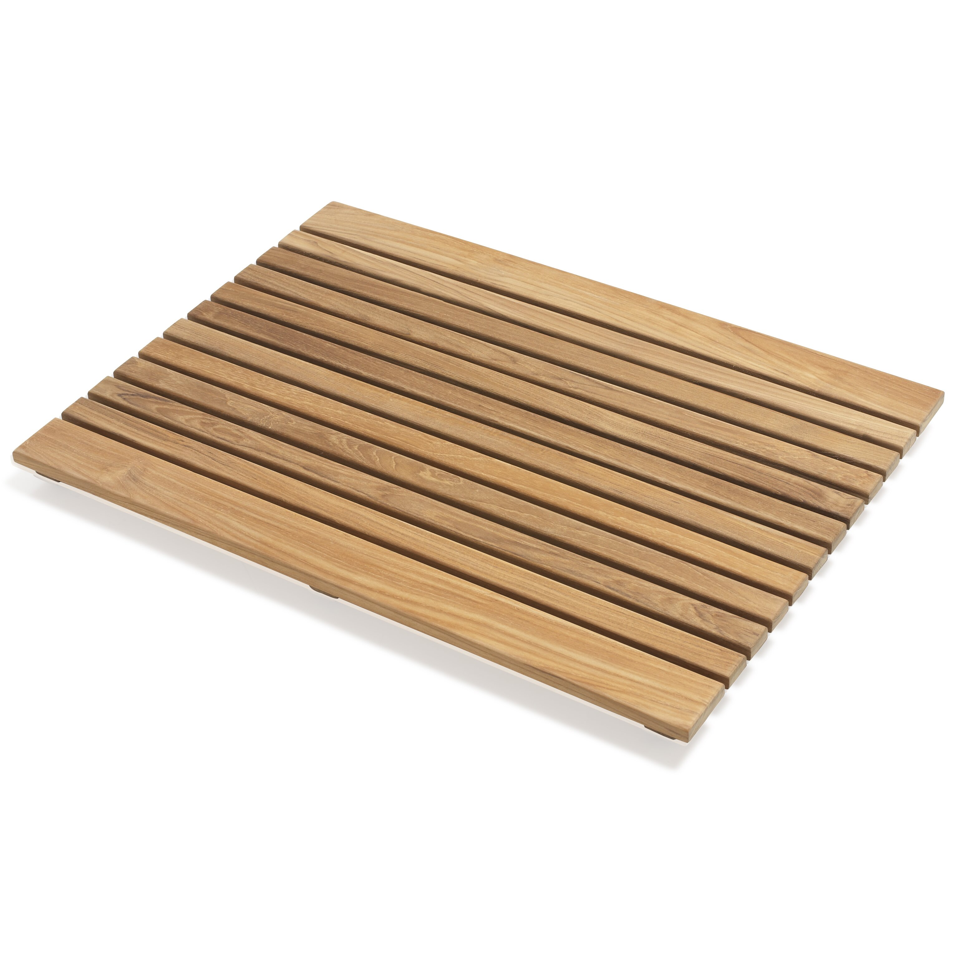 infinita corporation le spa rectangle teak shower mat. Black Bedroom Furniture Sets. Home Design Ideas
