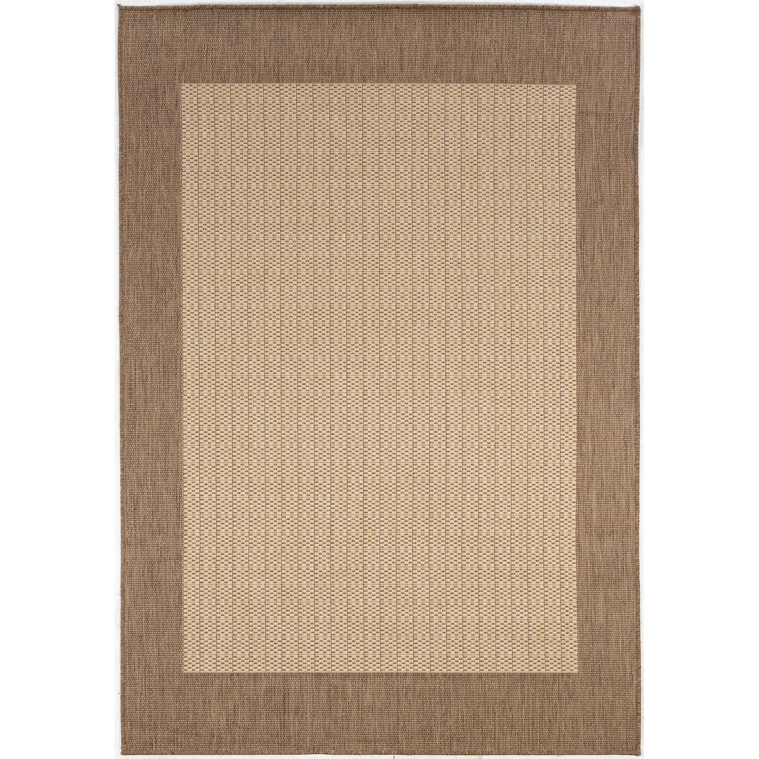 Checked Area Rugs: Couristan Recife Checkered Field Natural Cocoa Indoor