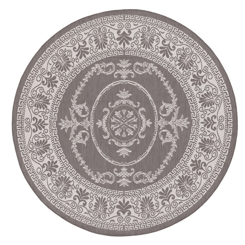 Couristan Recife Antique Medallion Grey White Indoor