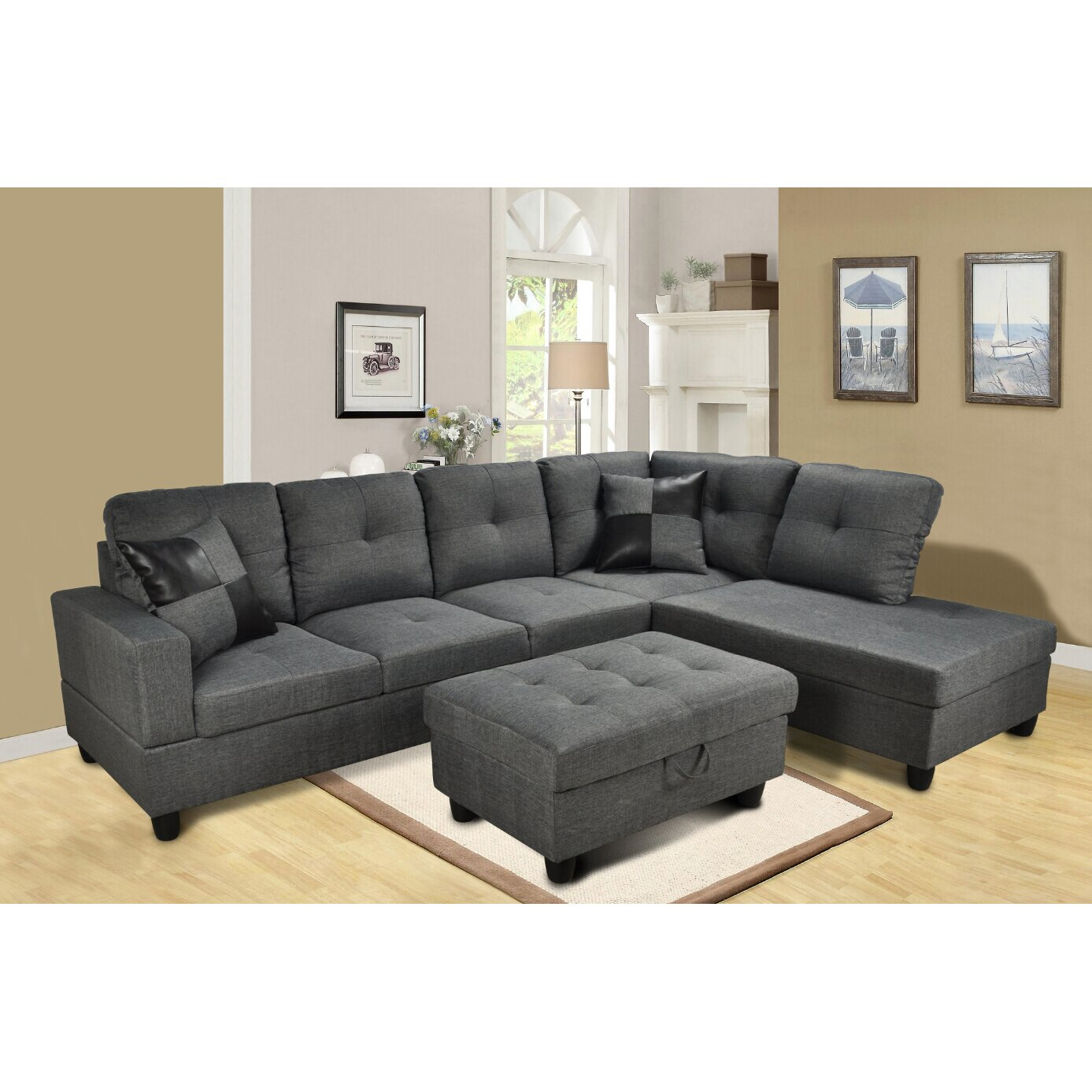 Beverly Fine Furniture Della Sectional & Reviews