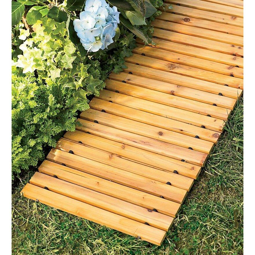plow hearth wooden pathway reviews wayfair