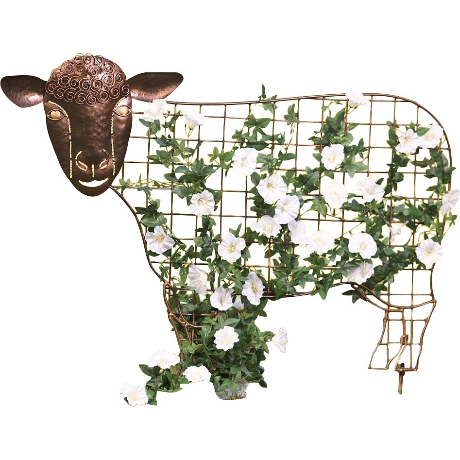 Plow Amp Hearth Sheep Garden Trellis Amp Reviews Wayfair