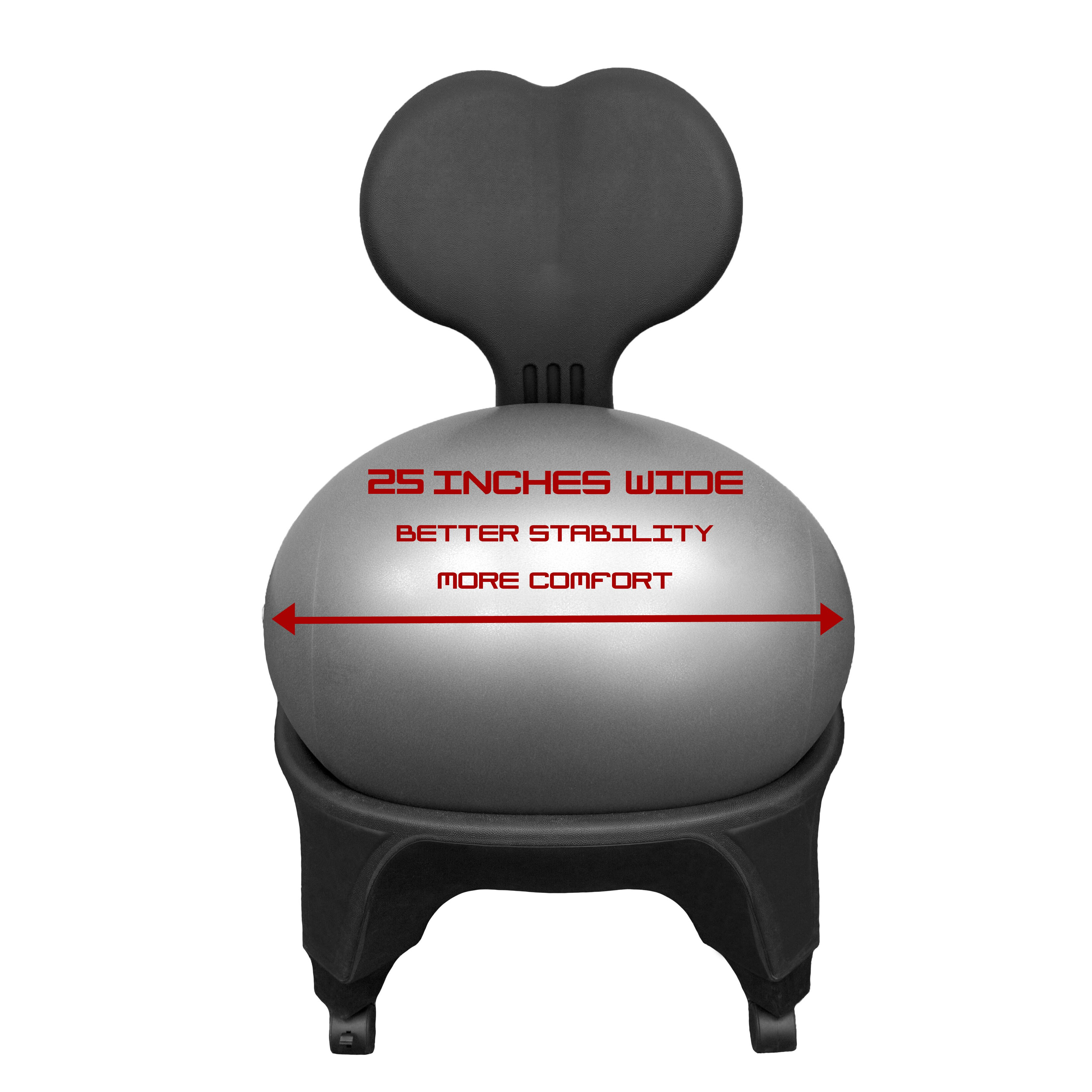 J Fit Mid Back Exercise Ball Chair & Reviews