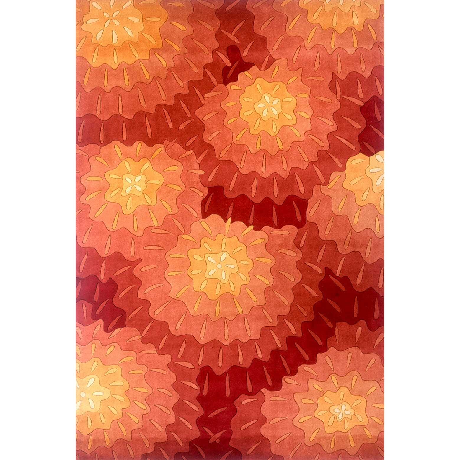 Momeni New Wave Red Area Rug & Reviews