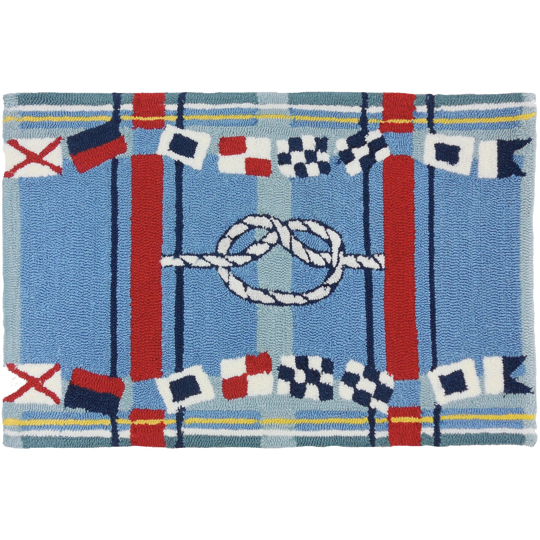 Nautical Plaid Blue Indoor Outdoor Area Rug