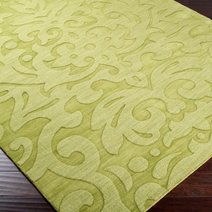 Surya Mystique Lime Green Floral Area Rug & Reviews