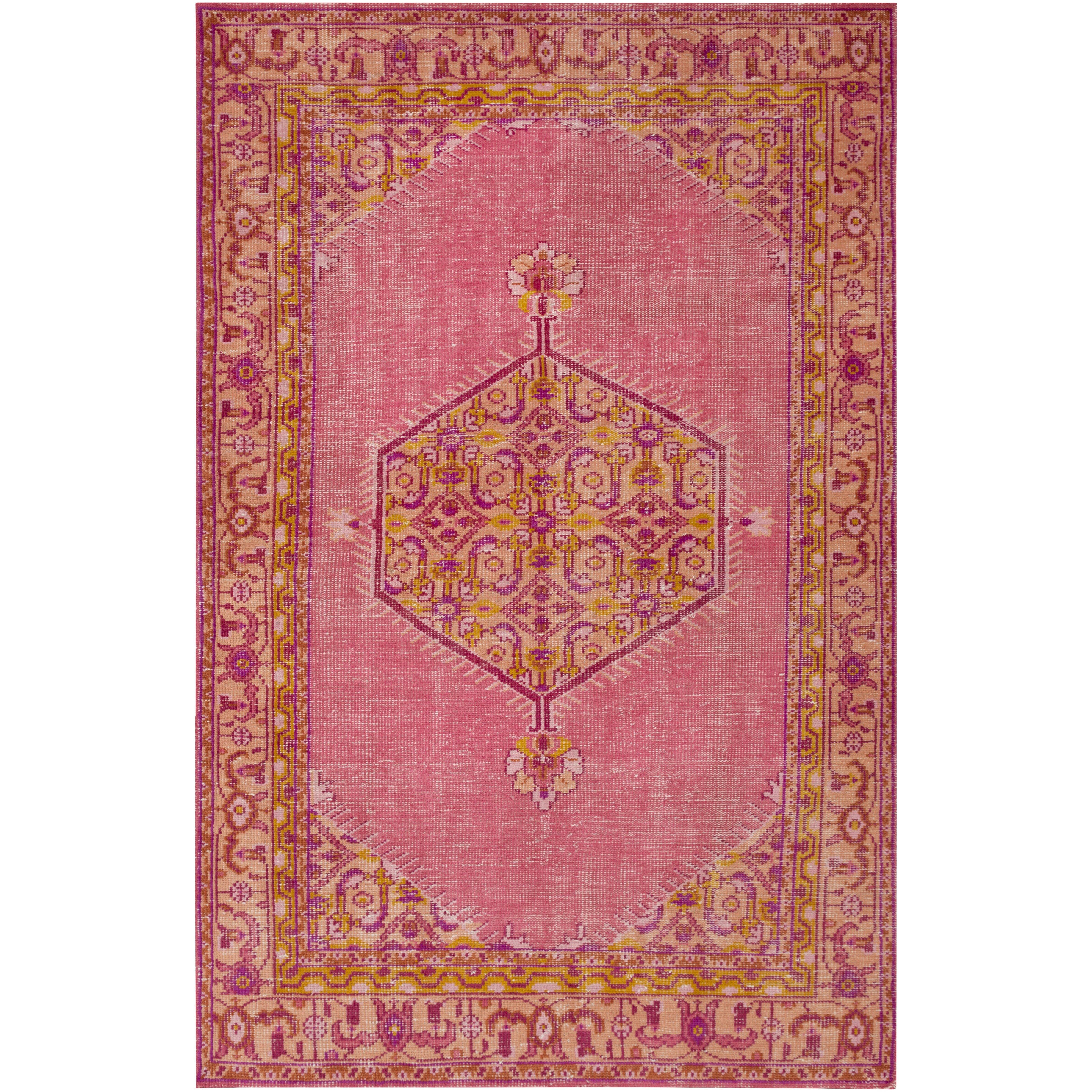 Zahra Hot Pink/Gold Oriental Rug