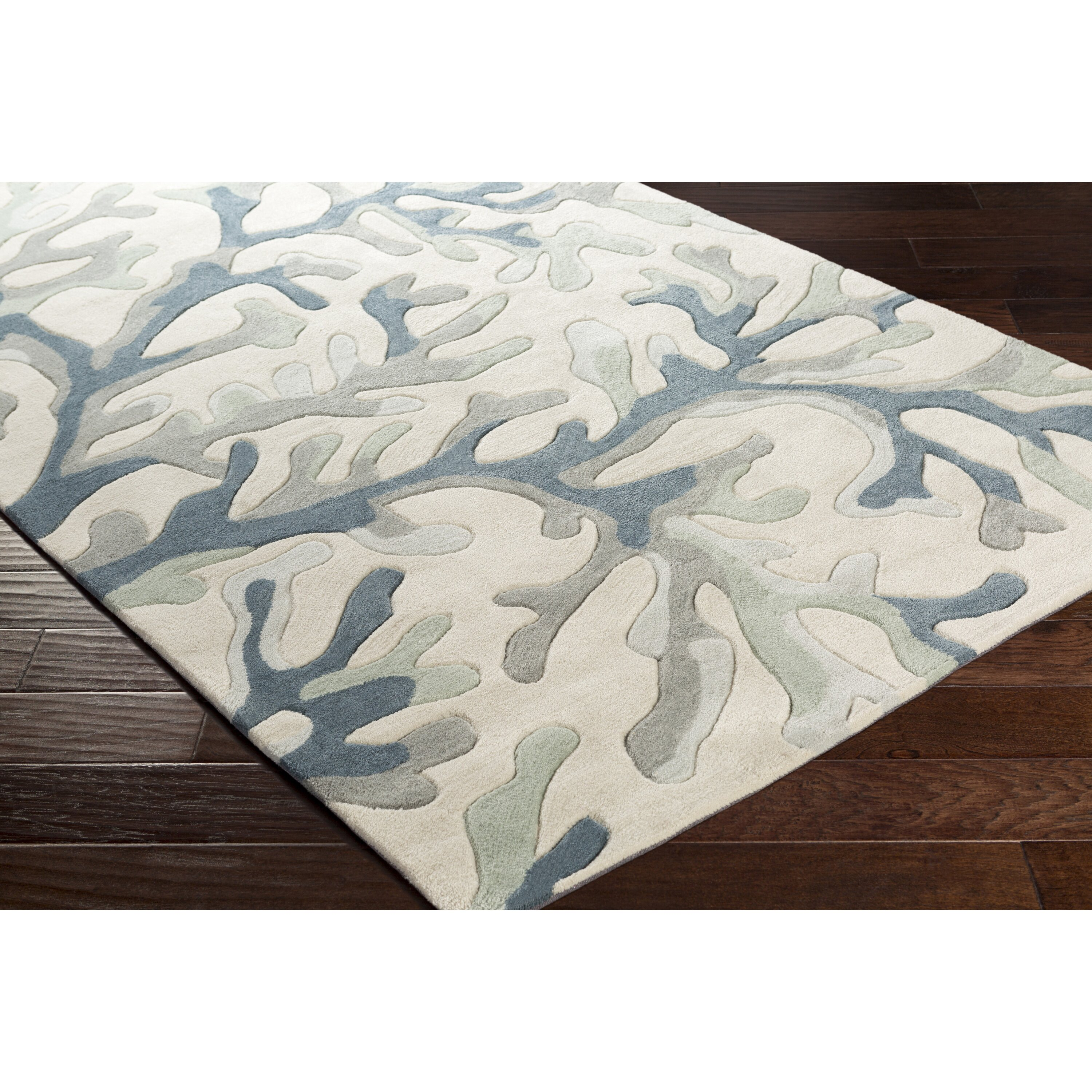 Beachcrest Home Bennett Light Gray/Teal Area Rug & Reviews