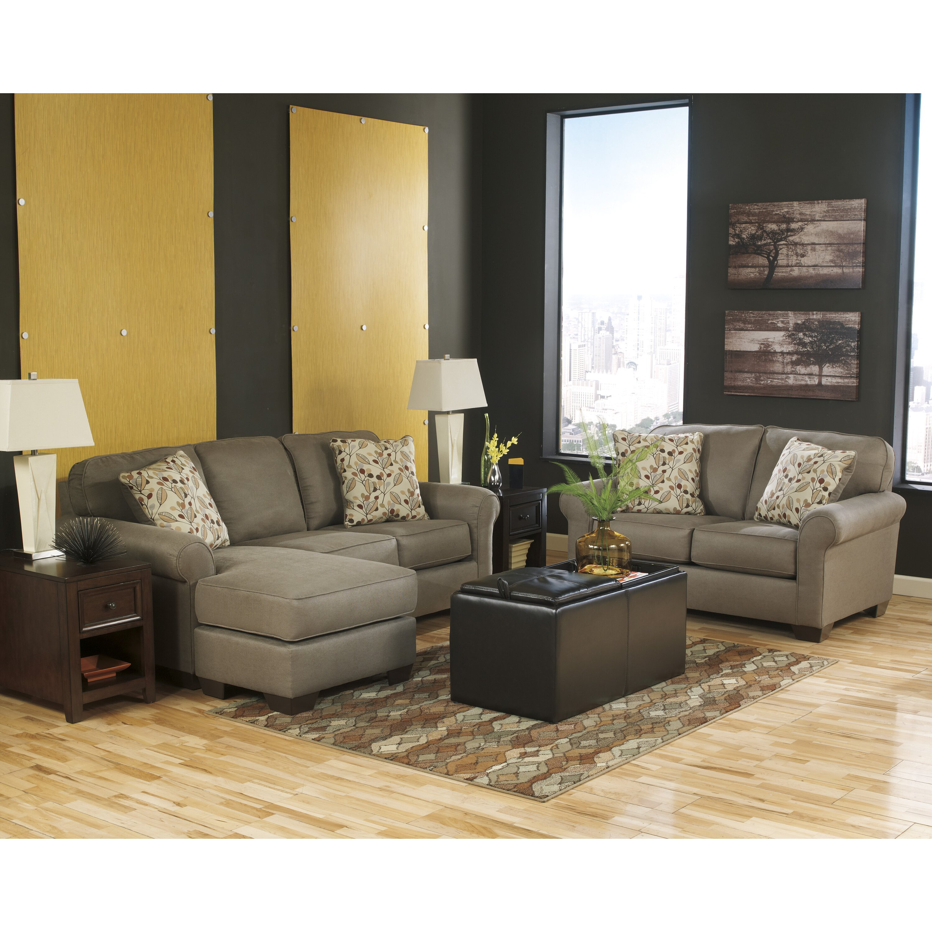 benchcraft sectional reviews benchcraft danely chaise sofa amp reviews wayfair 1583