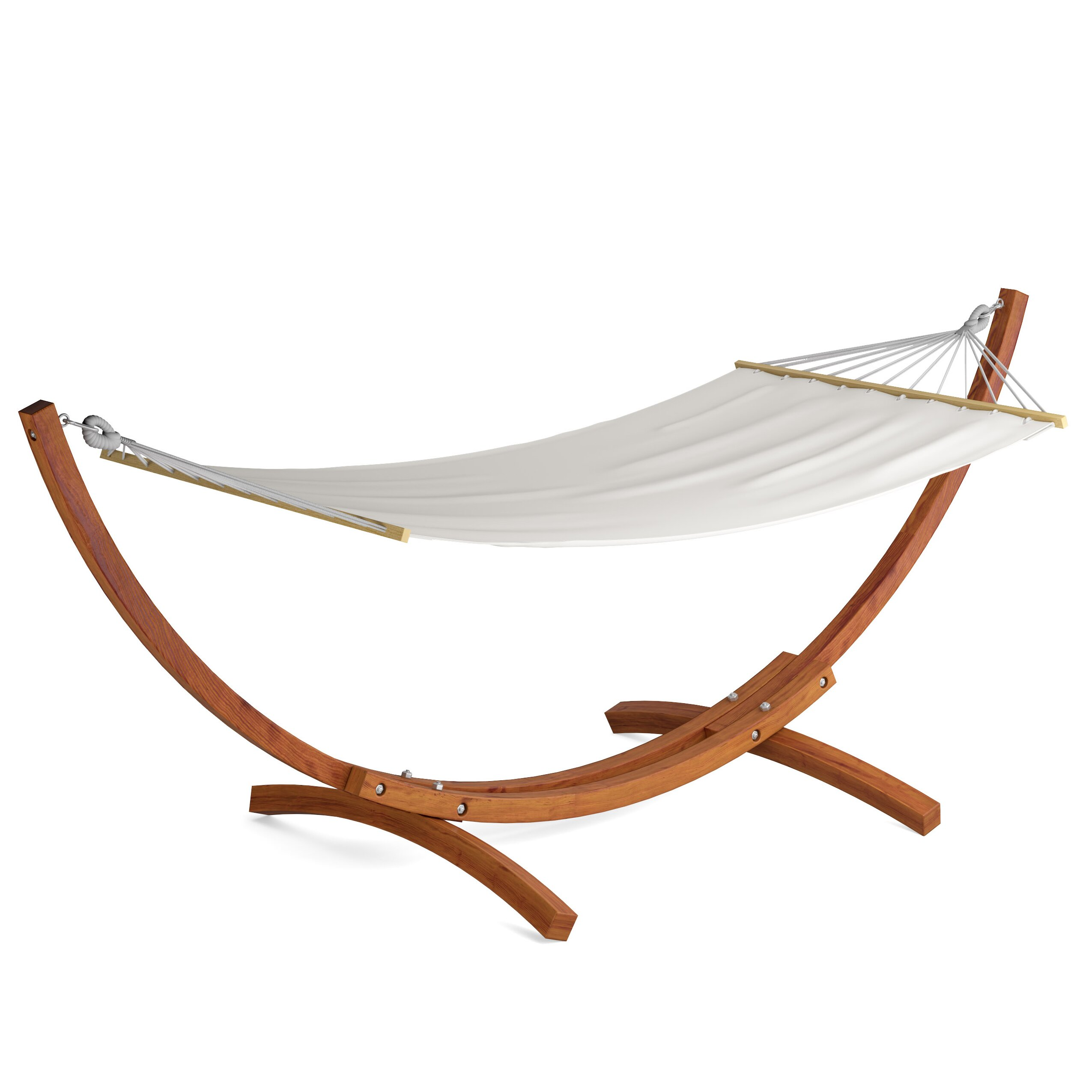 dCOR design Wood Canyon Patio Hammock with Stand & Reviews  Wayfair