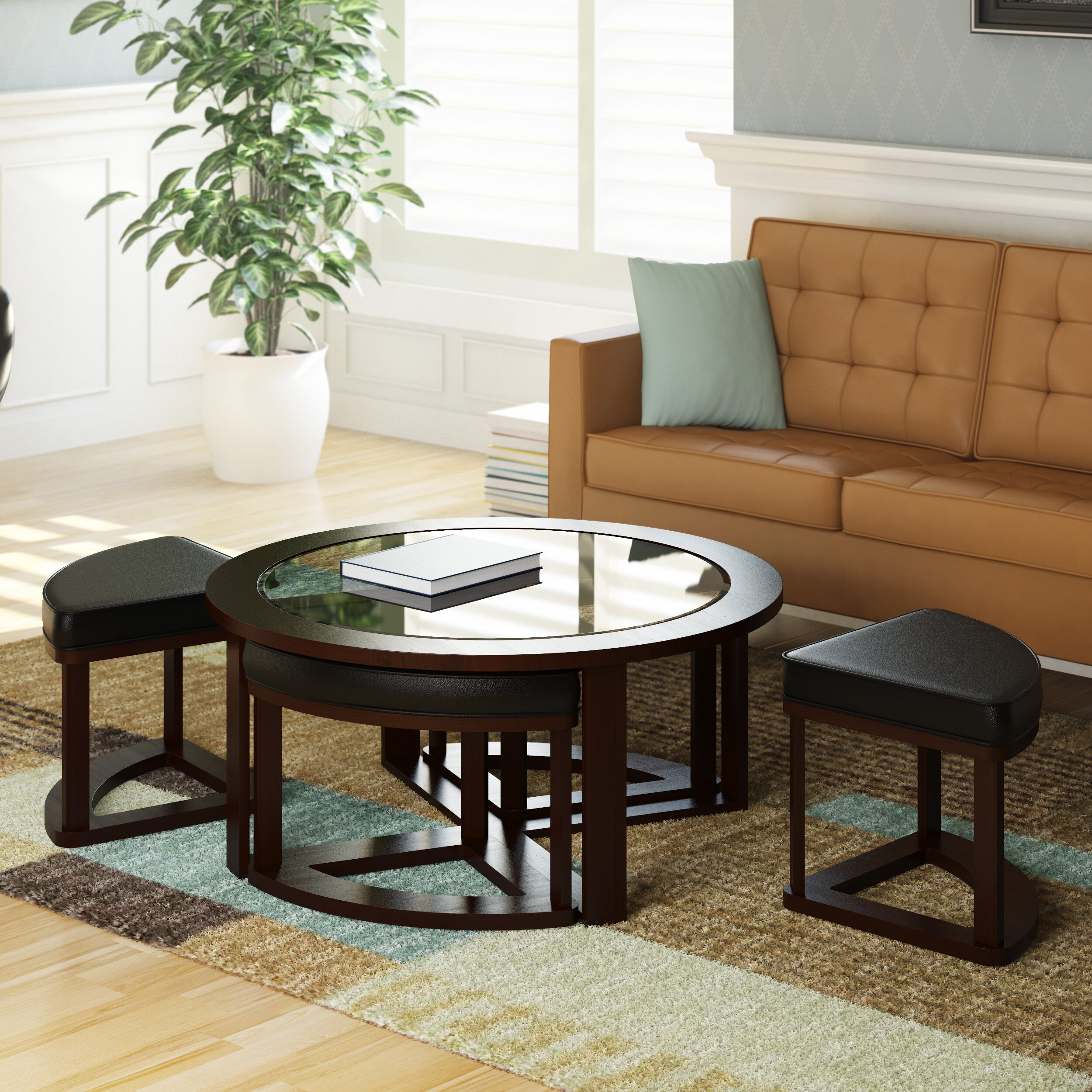 Dcor Design Belgrove Coffee Table With 4 Stools Amp Reviews