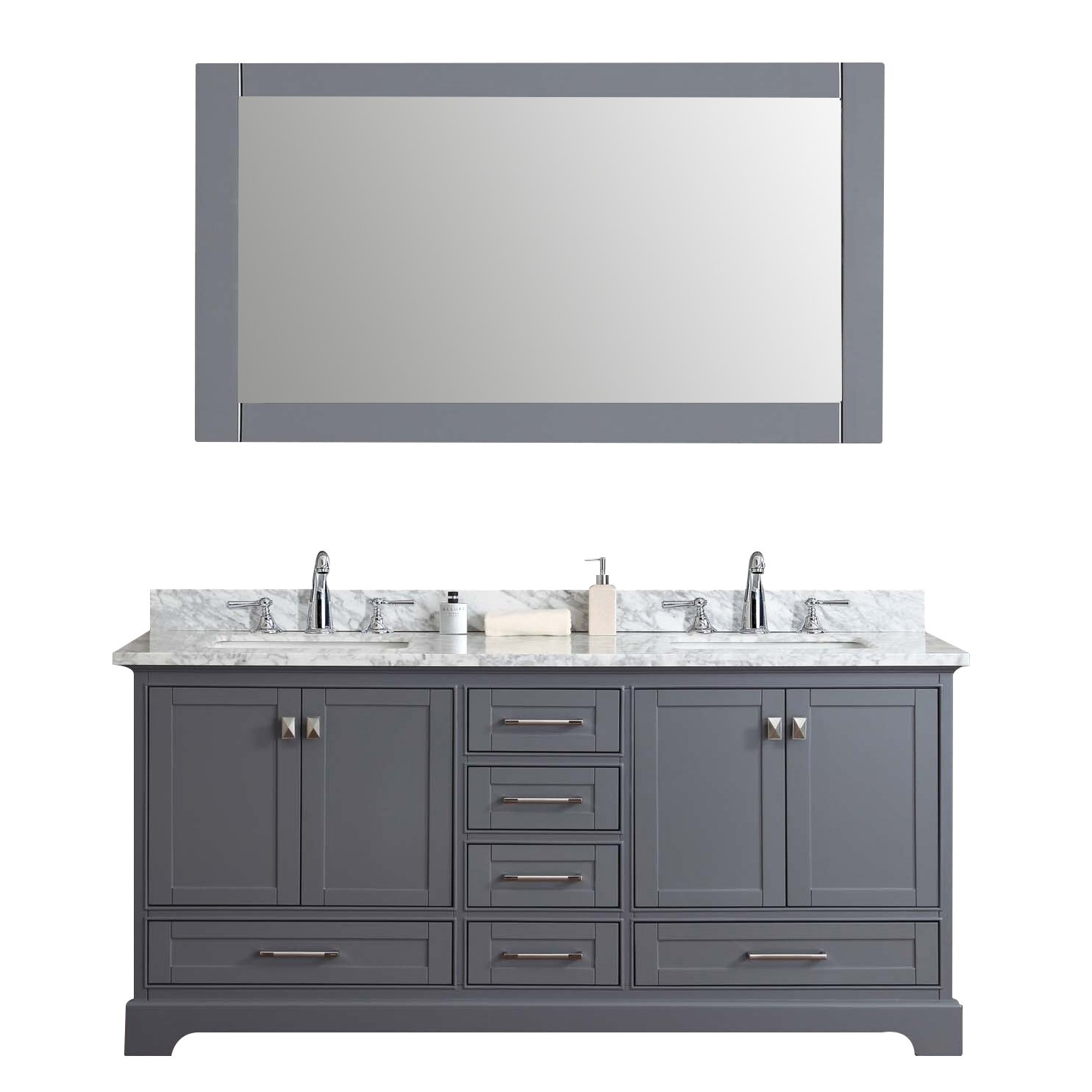 72 double sink bathroom vanity set with mirror reviews wayfair