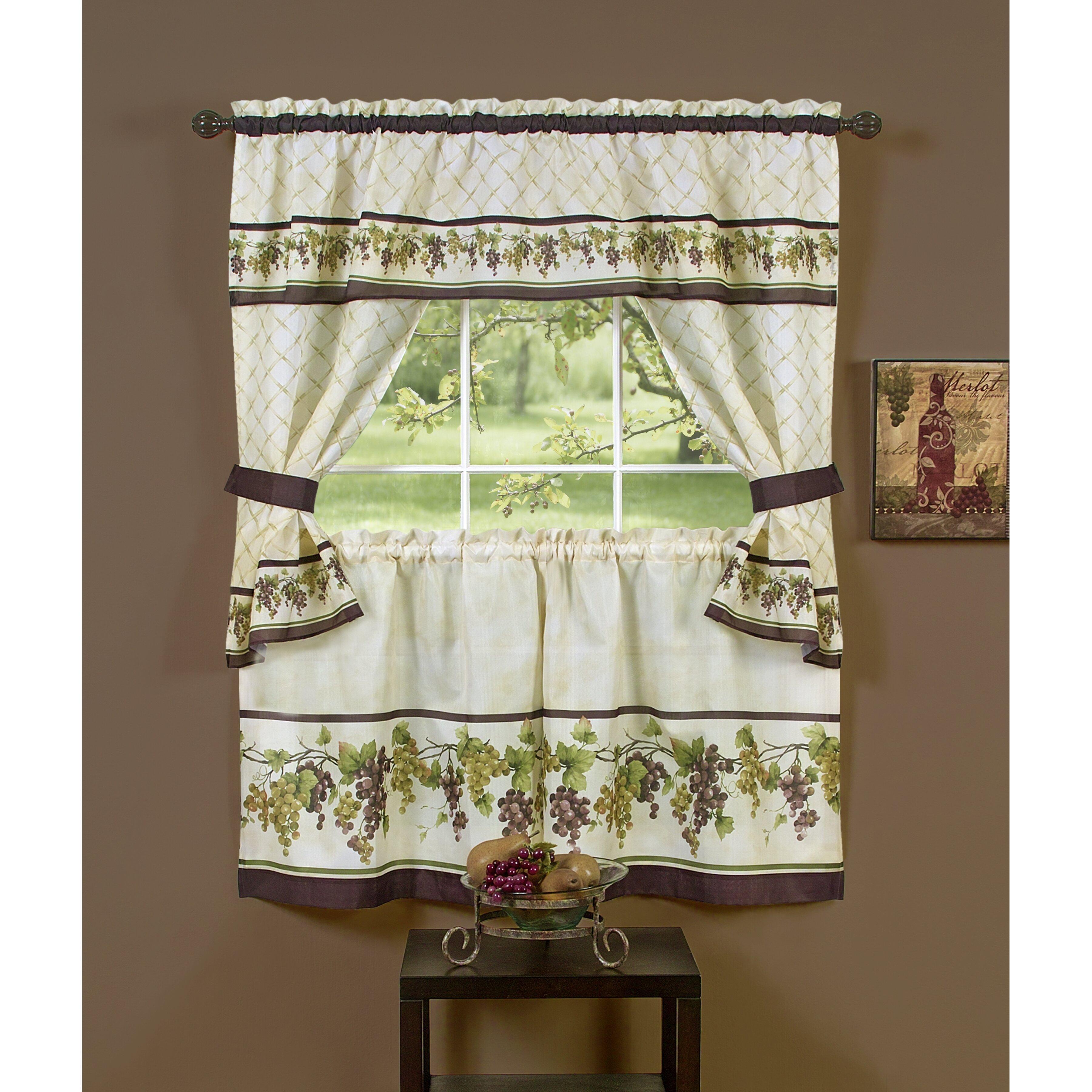 Tuscany Kitchen Cottage Curtain Set Wayfair