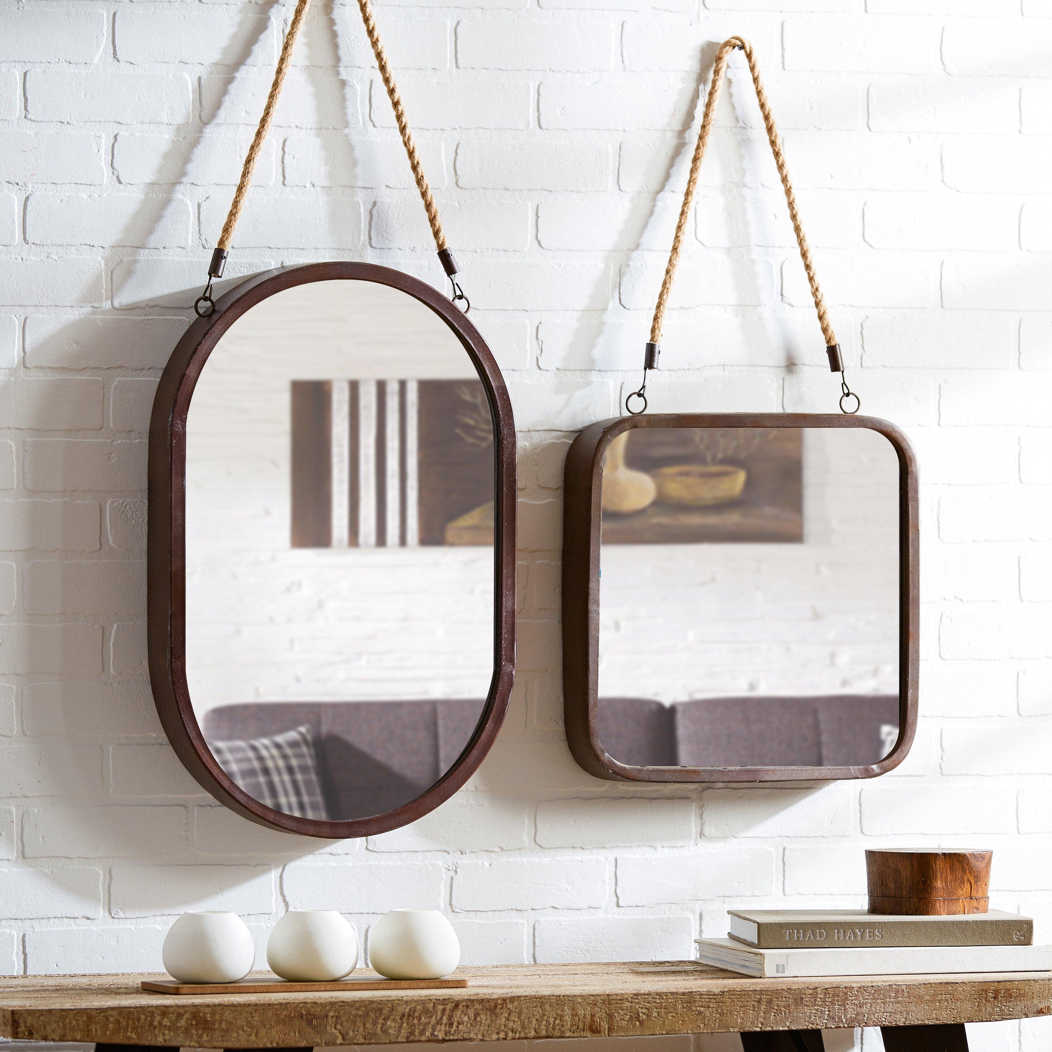 Mercury Row Hanging Rope Wall Mirror Amp Reviews Wayfair
