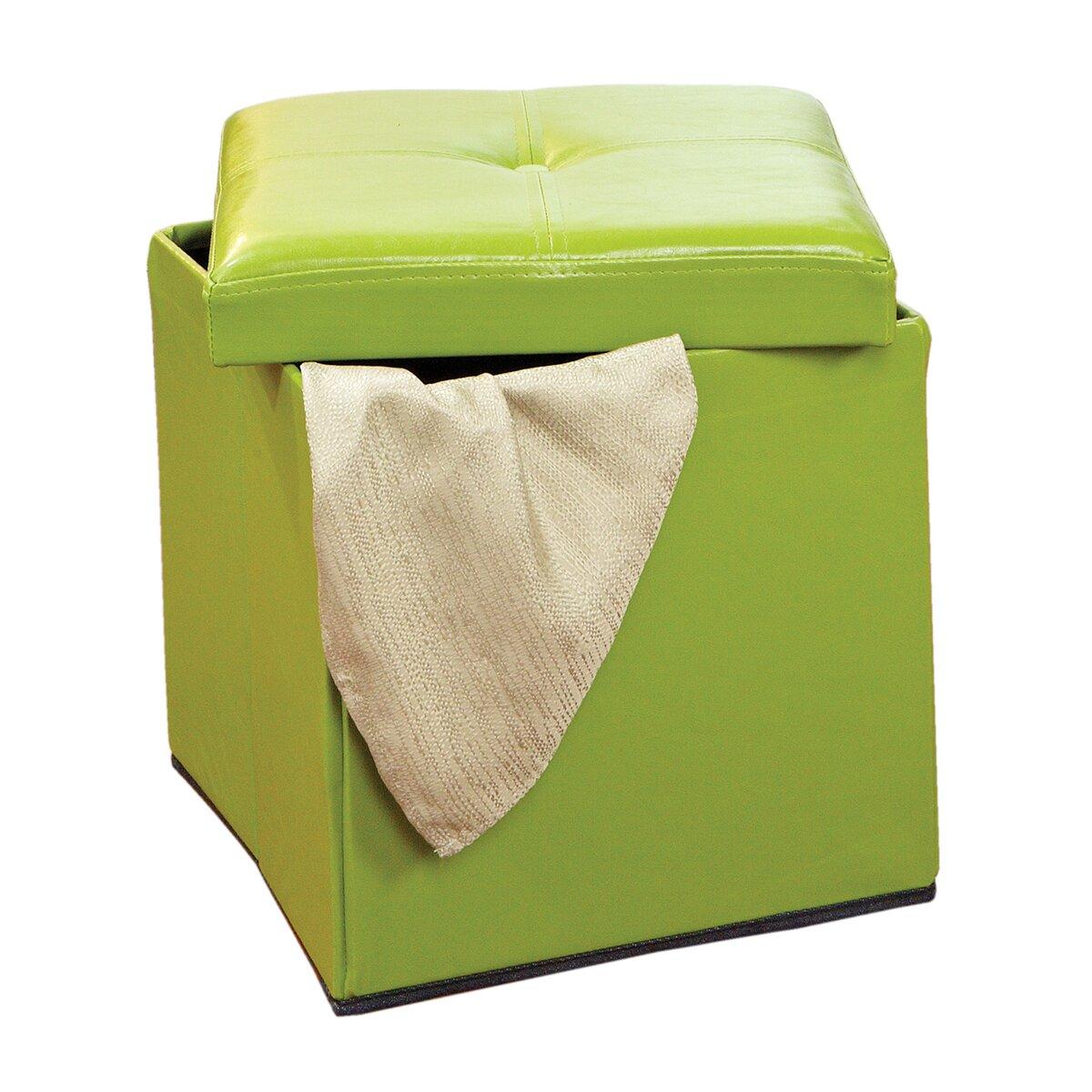 Simplify Single Folding Upholstered Storage Ottoman