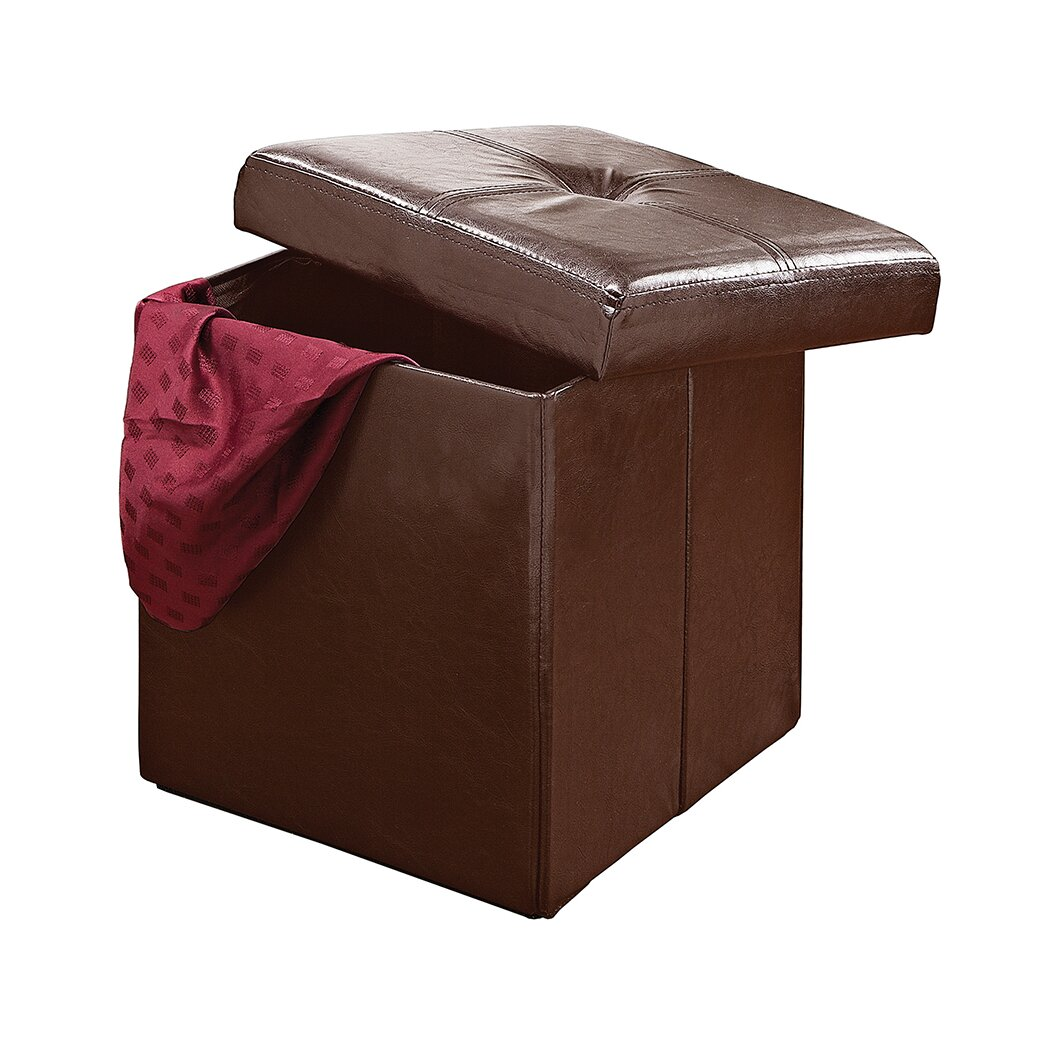 Ottomans Lifestyle Single Ottoman: Simplify Single Folding Upholstered Storage Ottoman