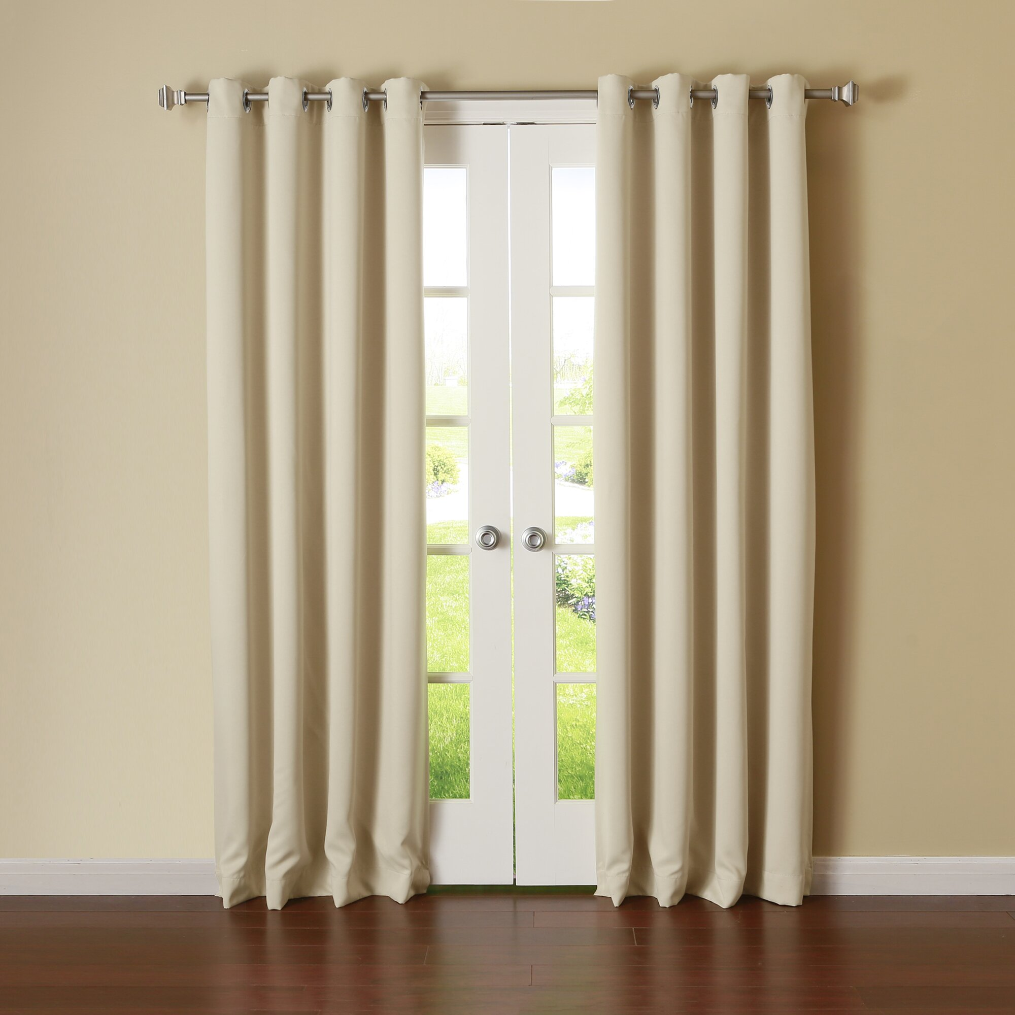 Best Home Fashion Inc Silver Grommet Top Thermal Insulated Blackout Curtain Panel Reviews