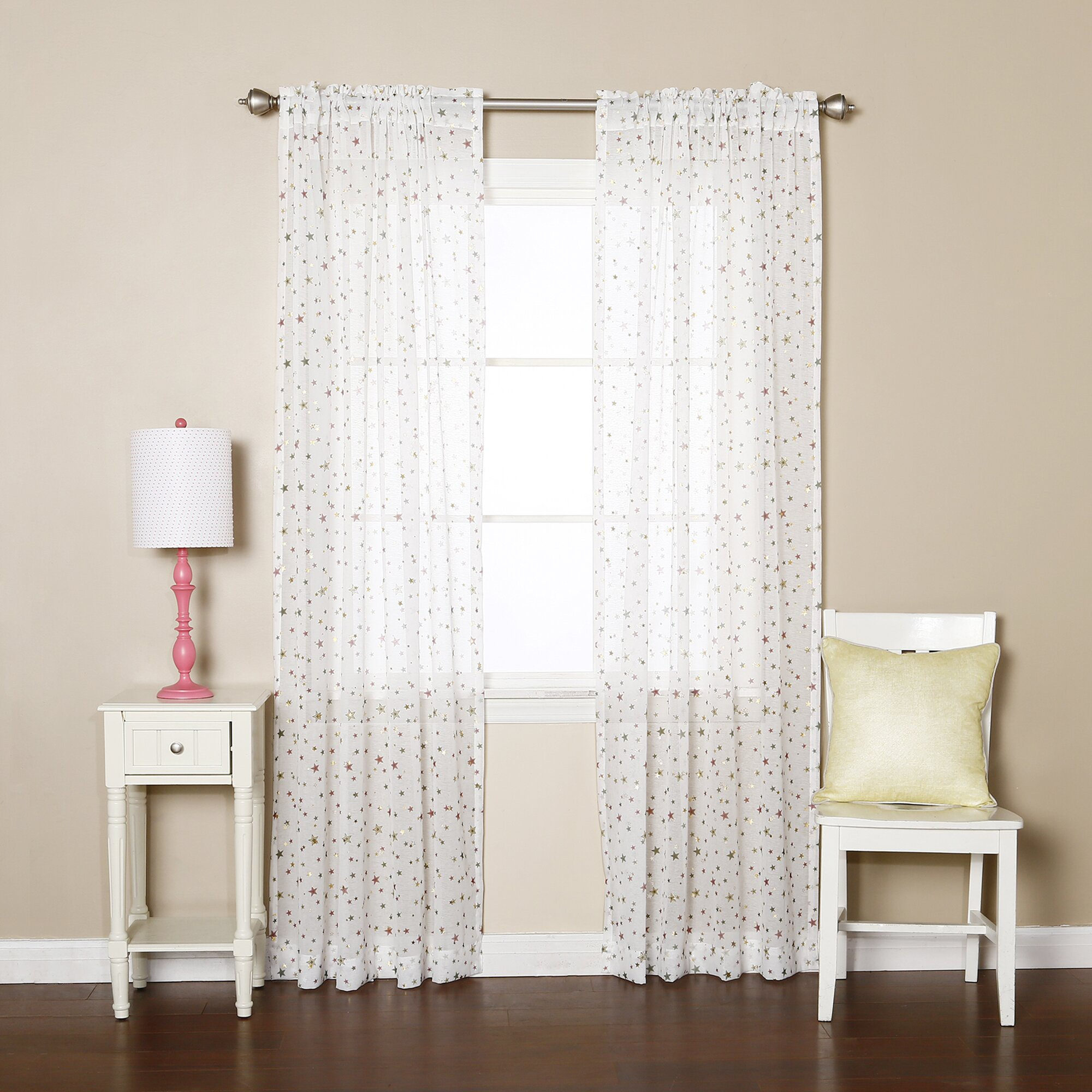 best home fashion inc star print curtain panel amp reviews