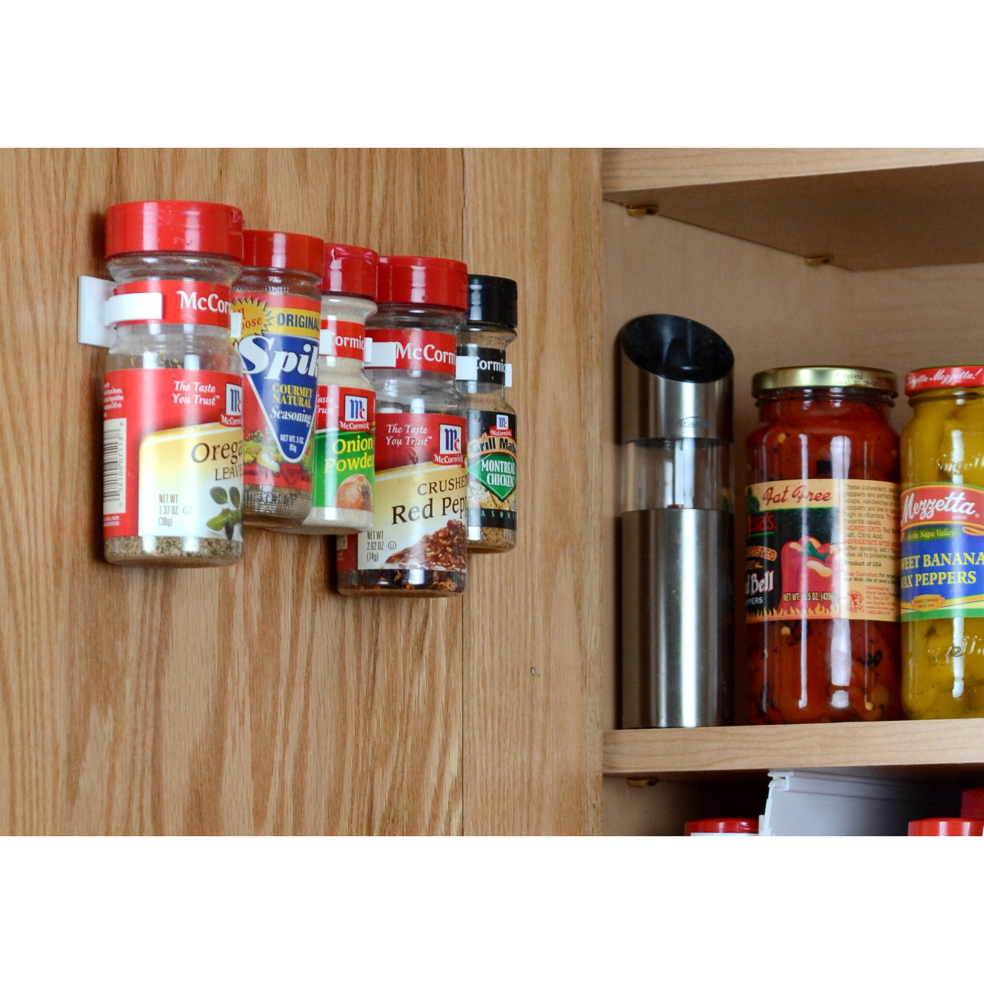 Spicestor Cabinet Door 20 Clip Spice Rack Organizer ...