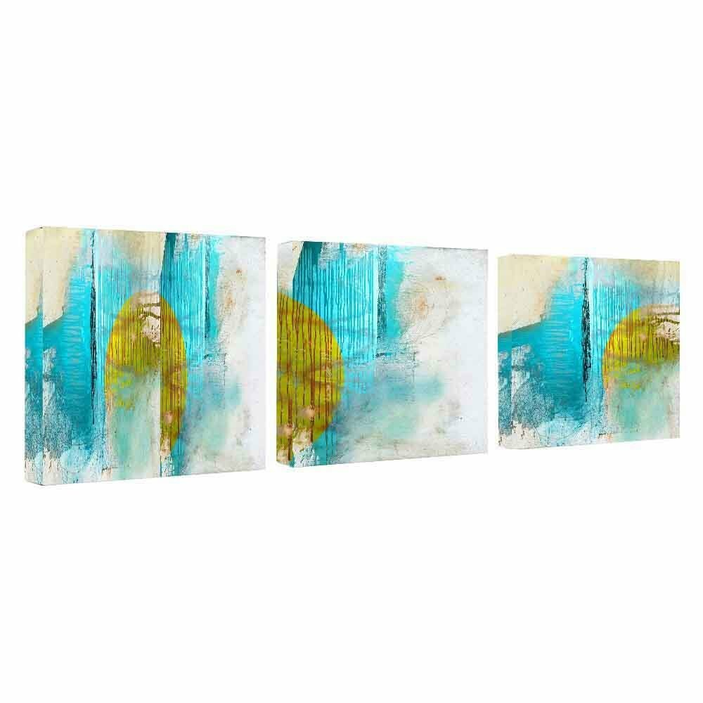 Ready2hangart abstract 3 piece graphic art on canvas set for Ready set decor reviews