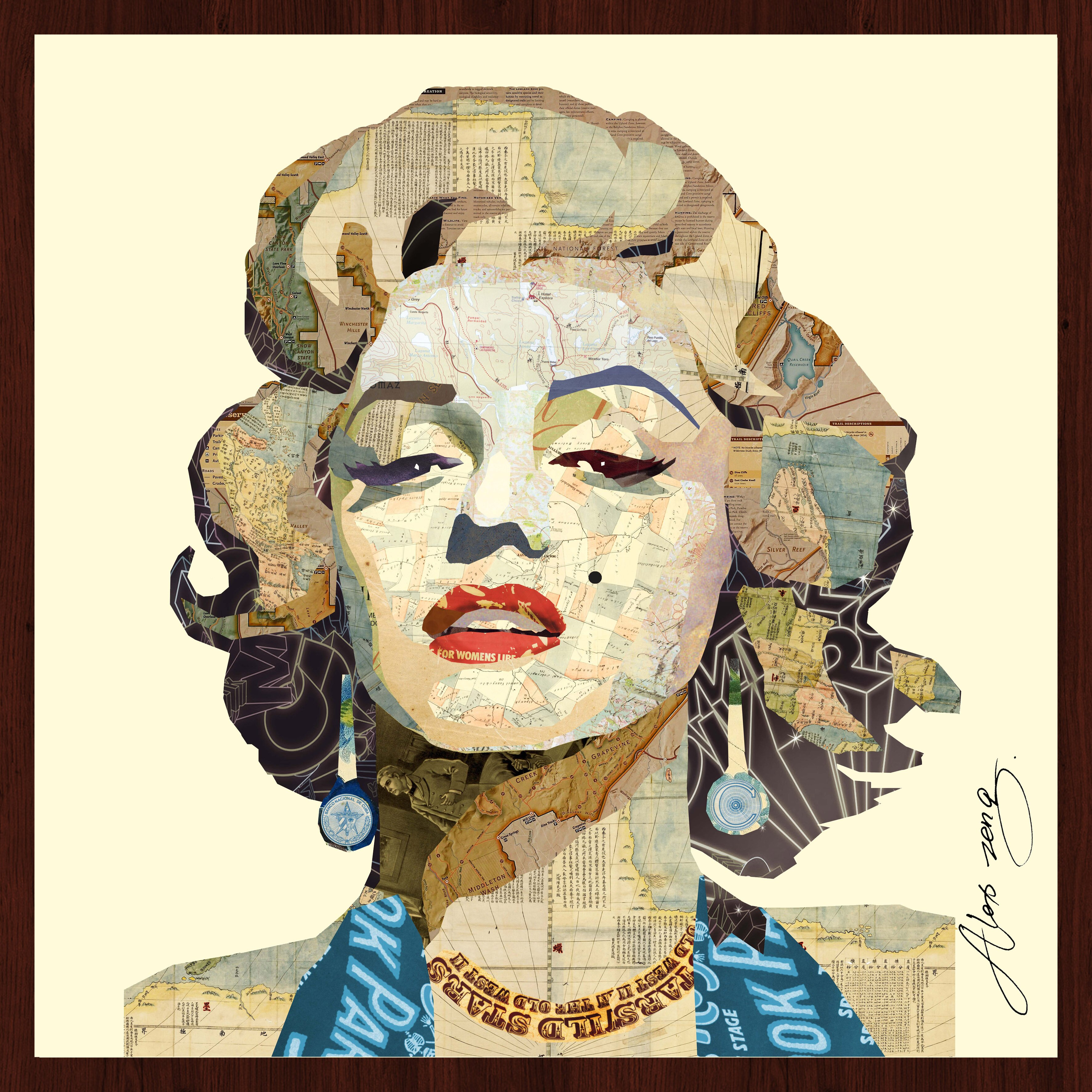 Empire Art Direct Quot Homage To Marilyn Quot Original Dimensional