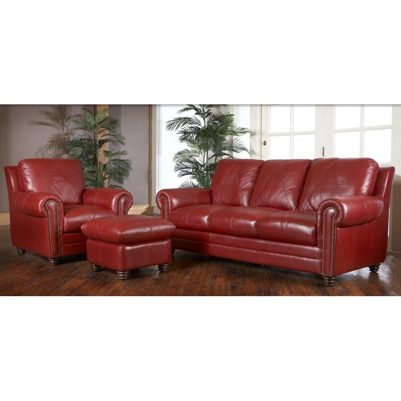 Red Barrel Studio Barnstormer Leather Sofa Amp Reviews Wayfair