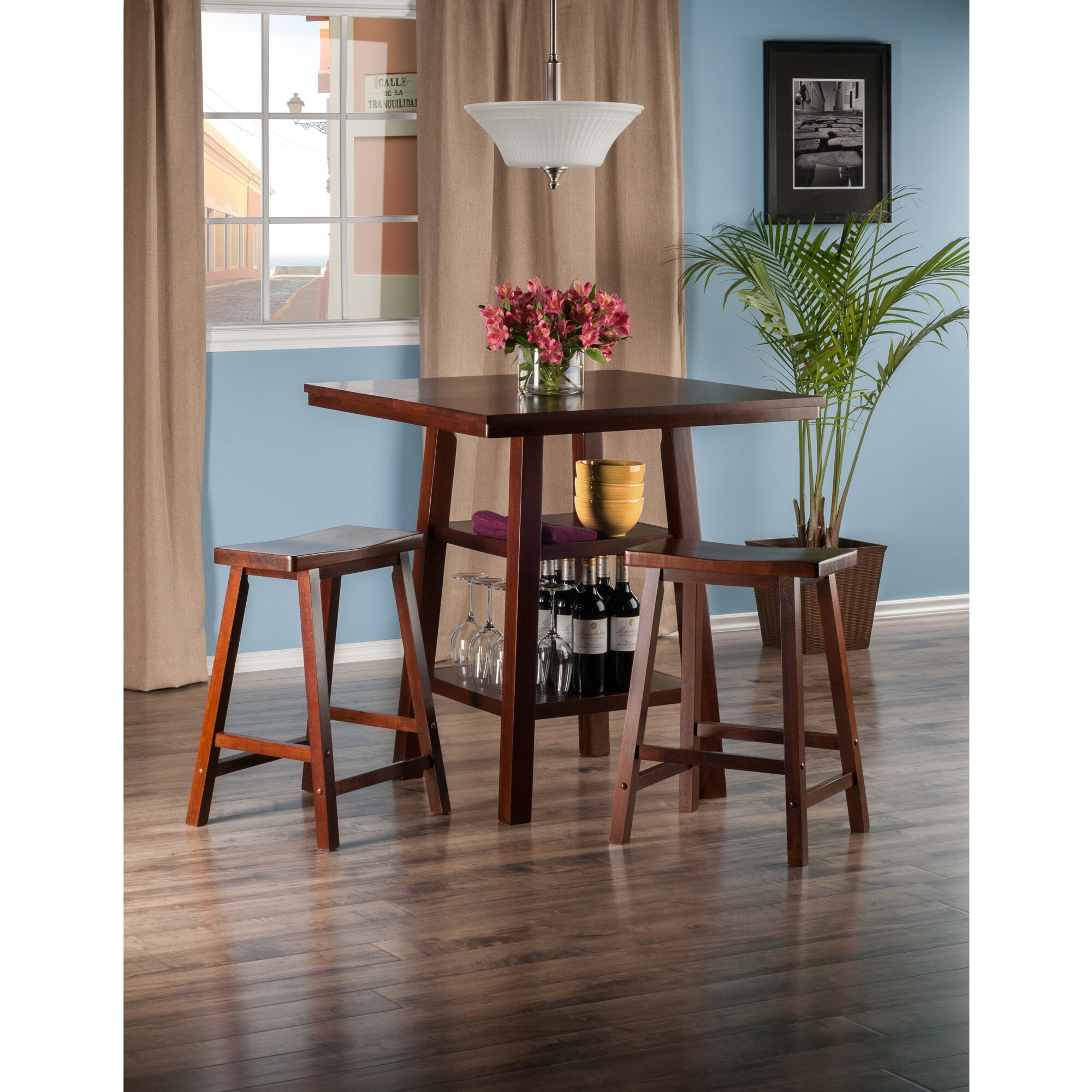 pratt street 3 piece dining set wayfair. Black Bedroom Furniture Sets. Home Design Ideas