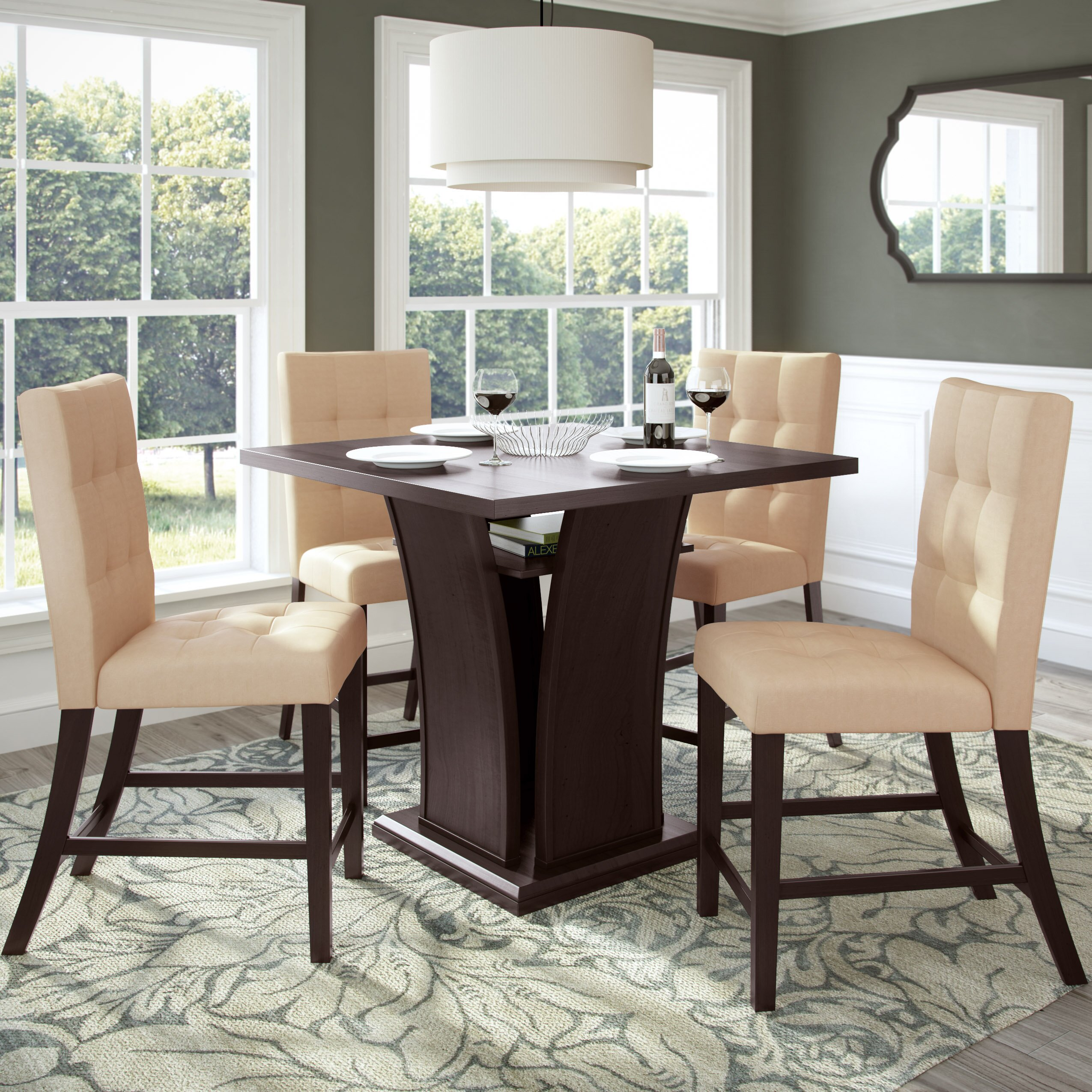 Counter Height Dining Sets 5 Piece : ... Studio Troyer 5 Piece Counter Height Dining Set & Reviews Wayfair